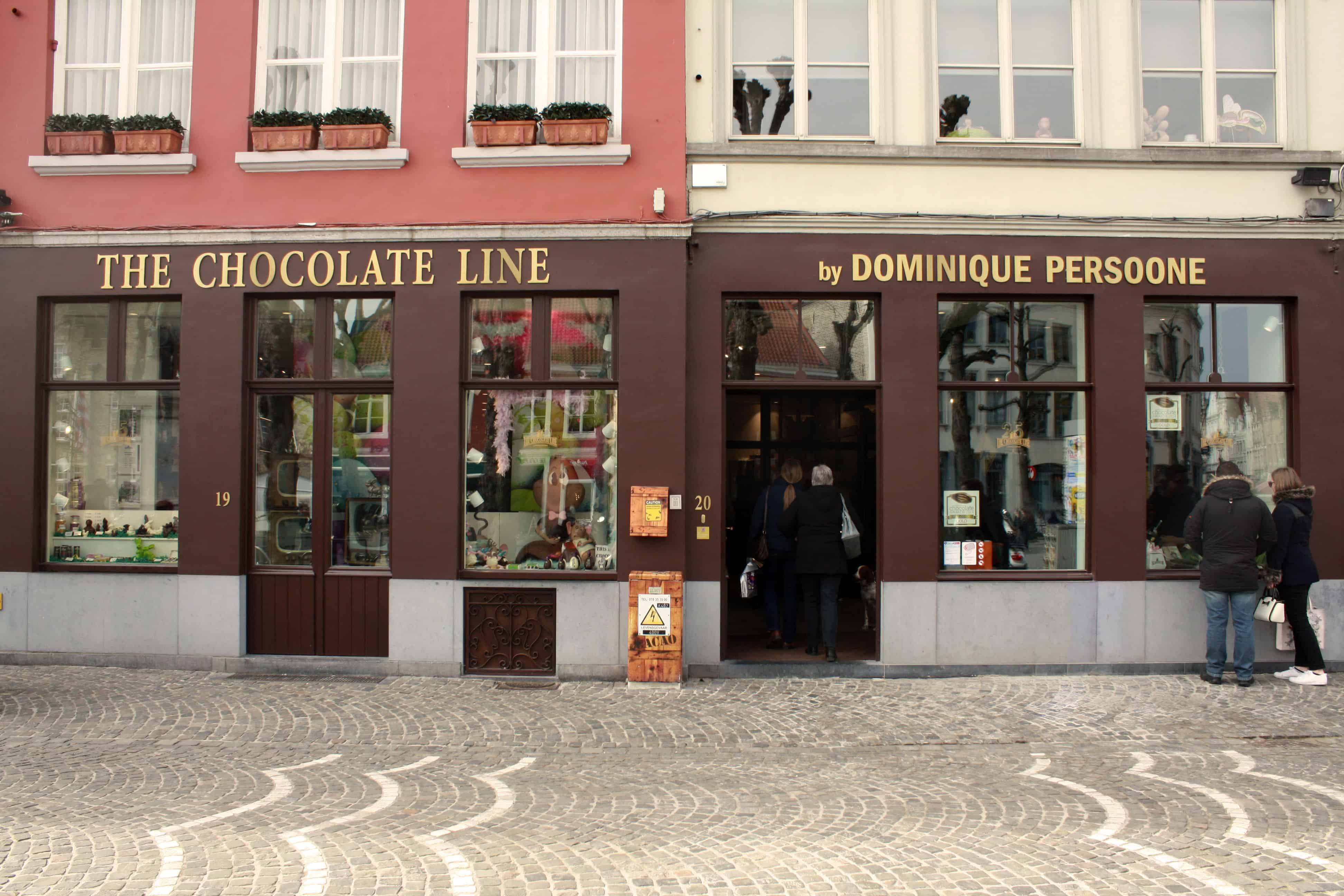 Outside The Chocolate Line, Bruges