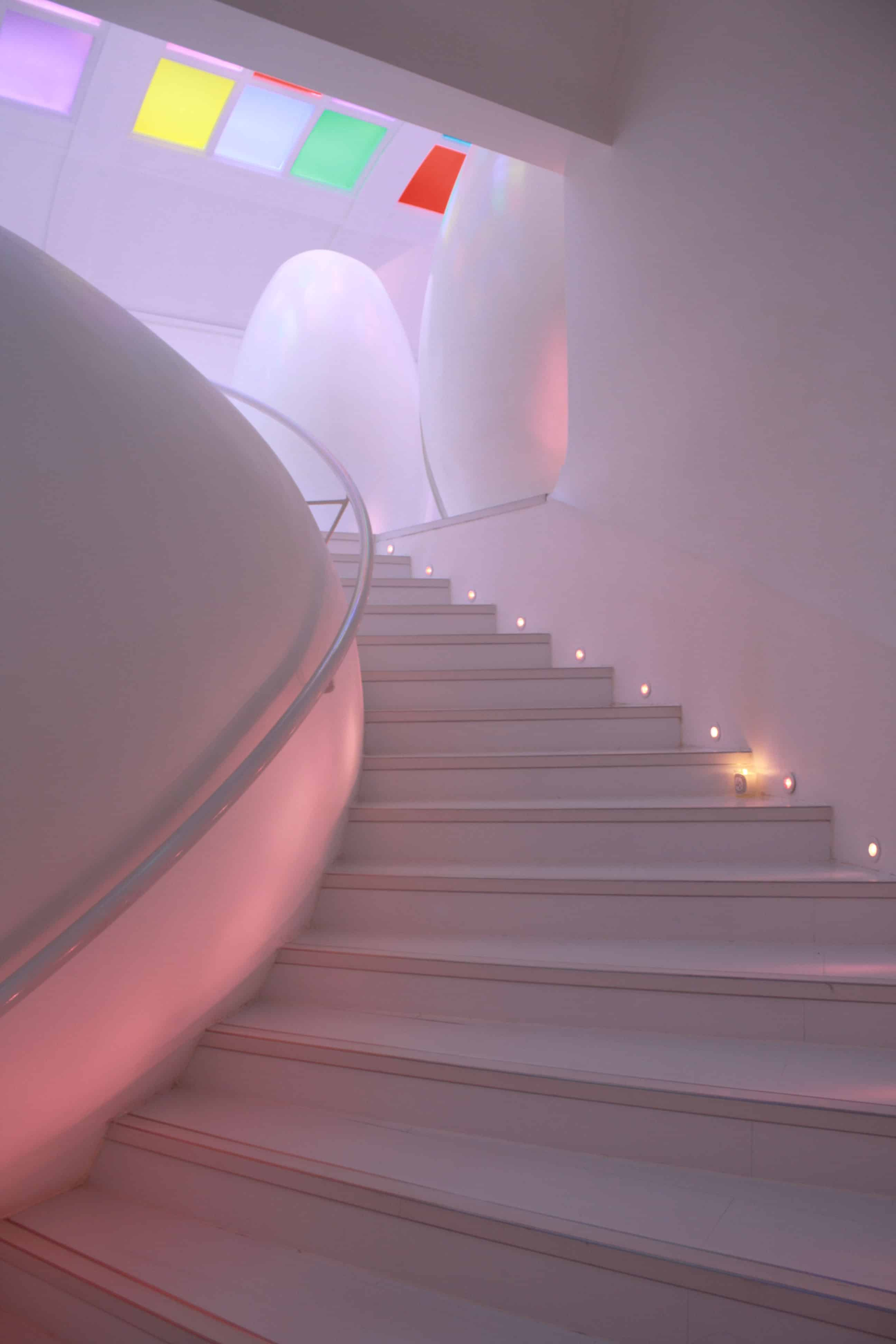 Stairs to Sketch toilets