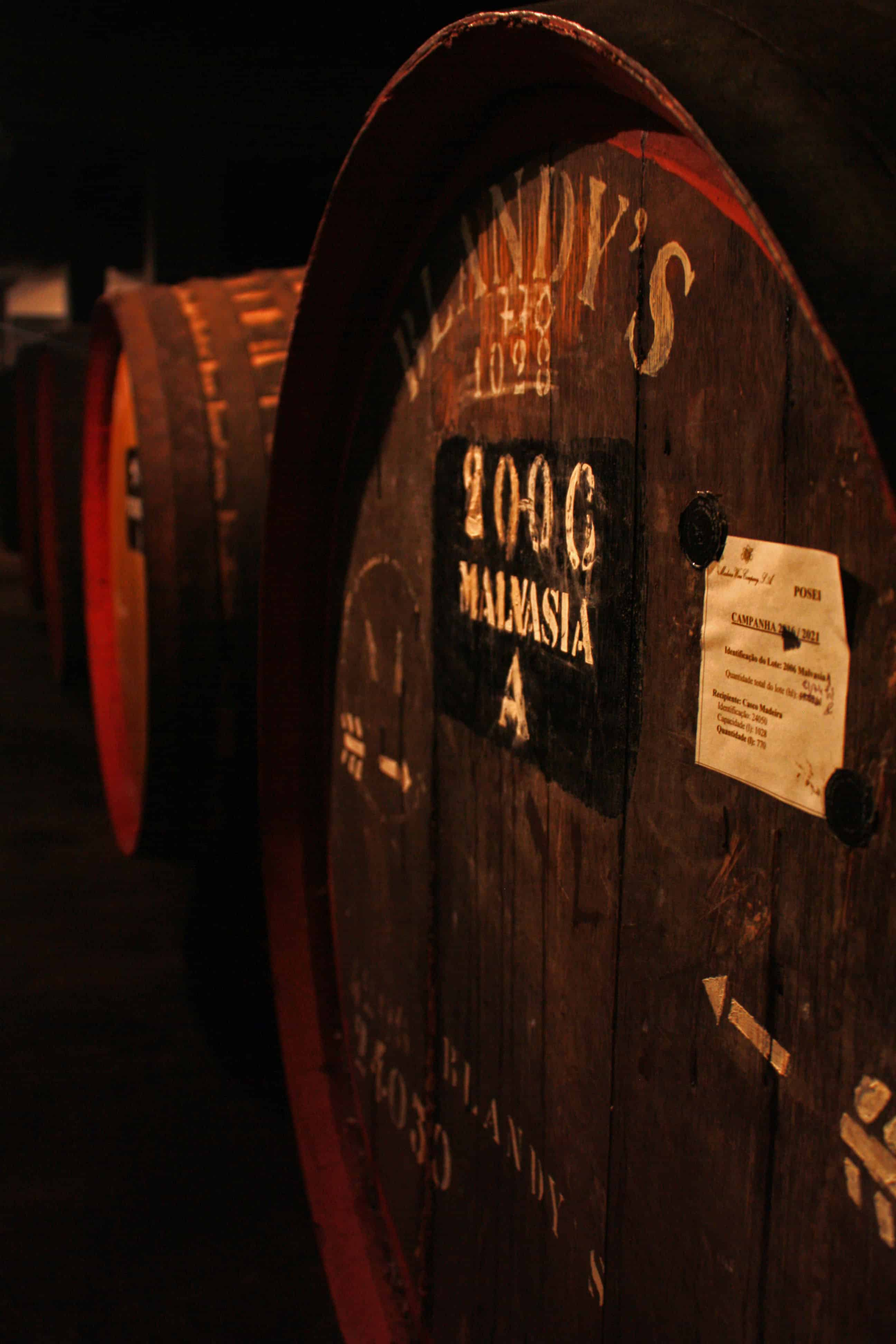 Blandy's Madeira wine barrels