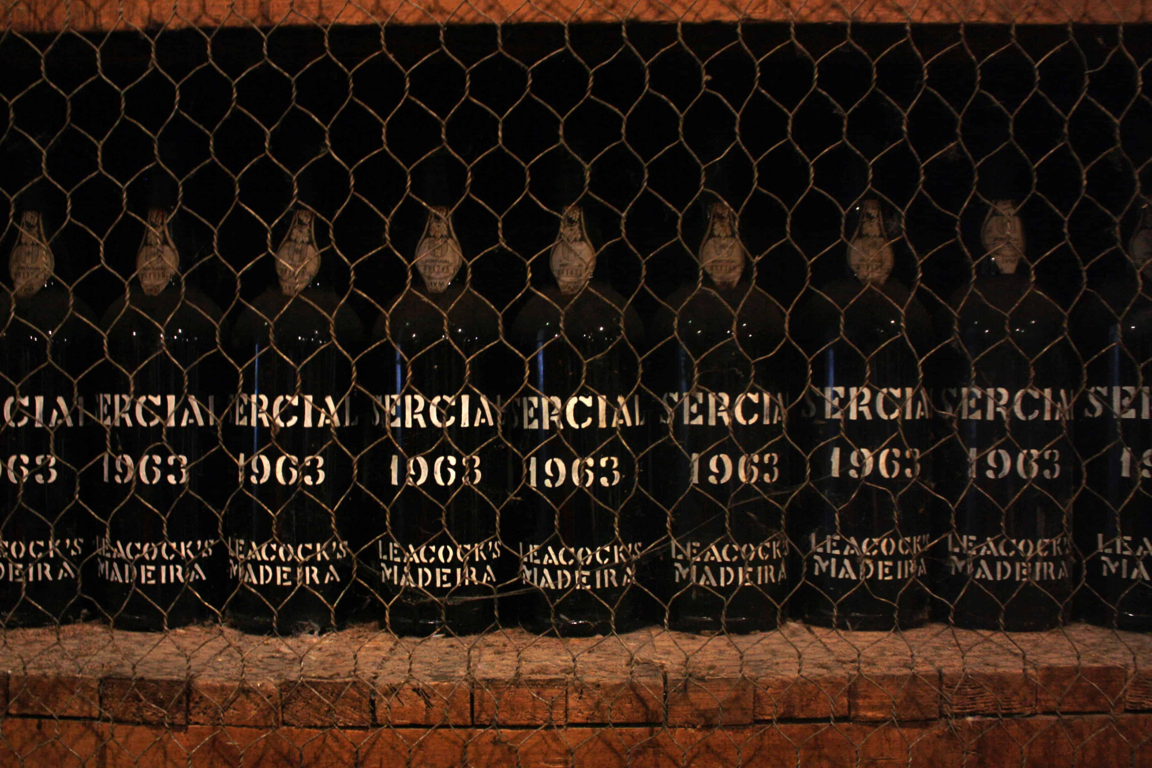 Bottles of Madeira wine, Blandy's