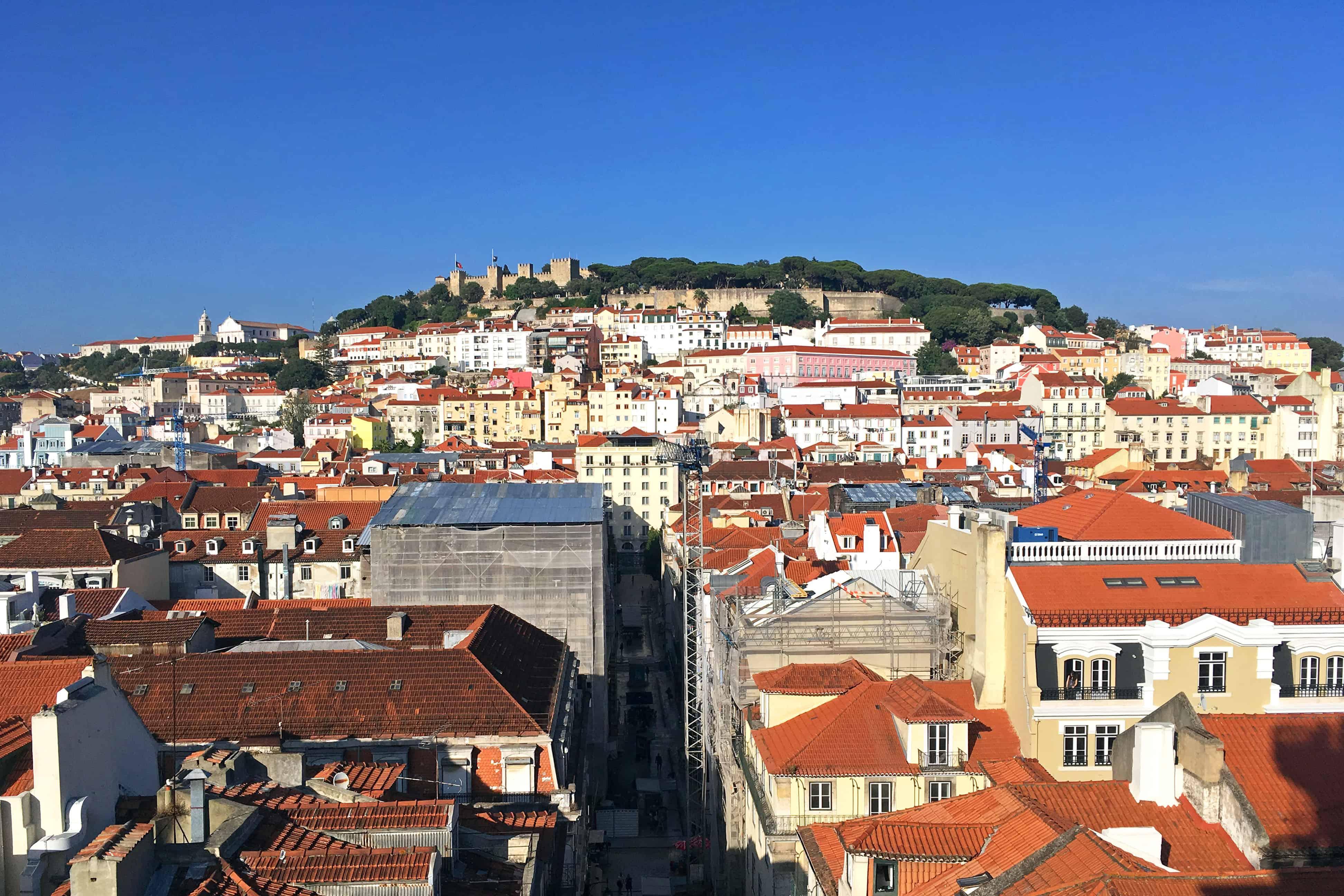 Castelo de São Jorge from Elevador de Santa Justa, Lisbon