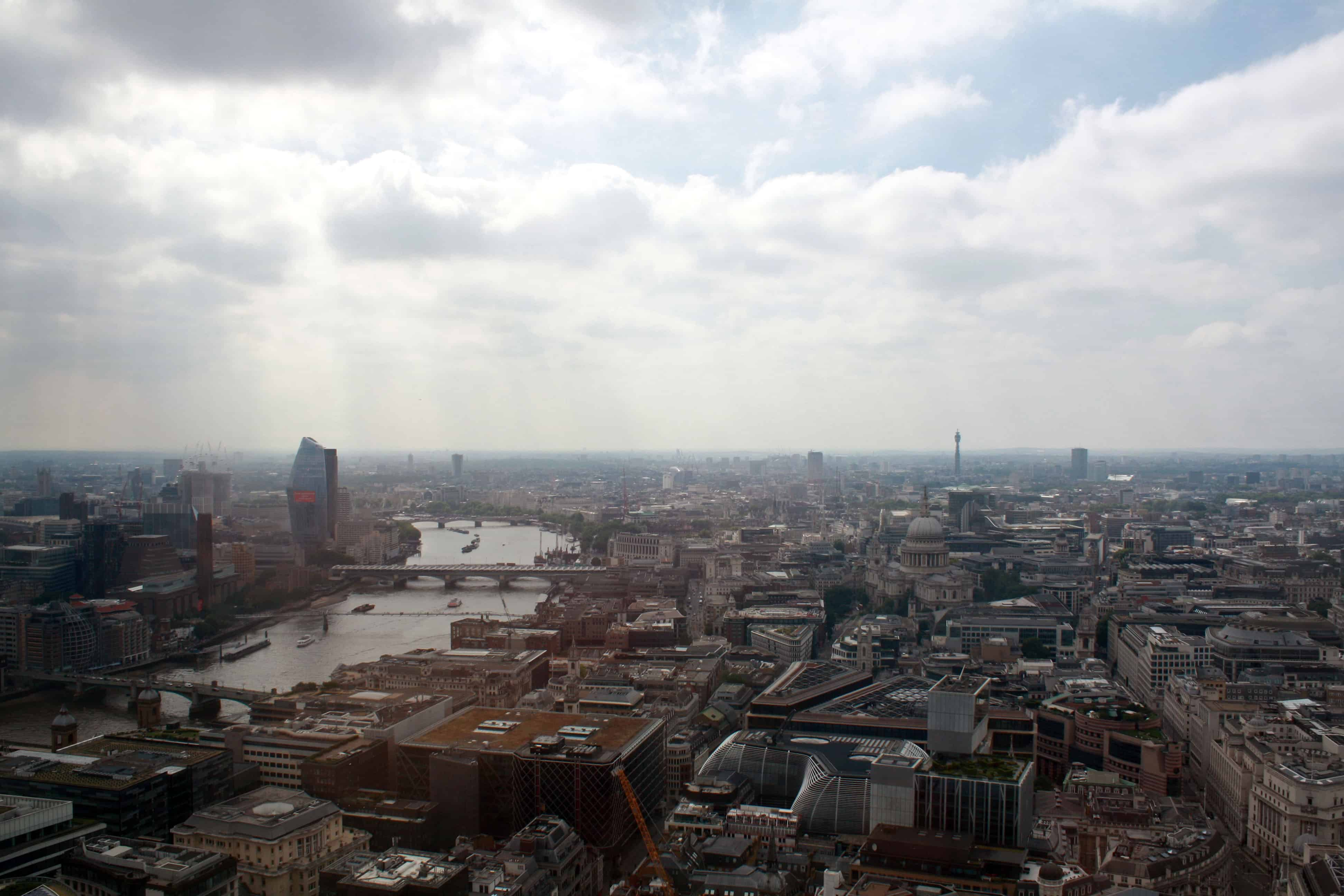 Central London from Sky Garden