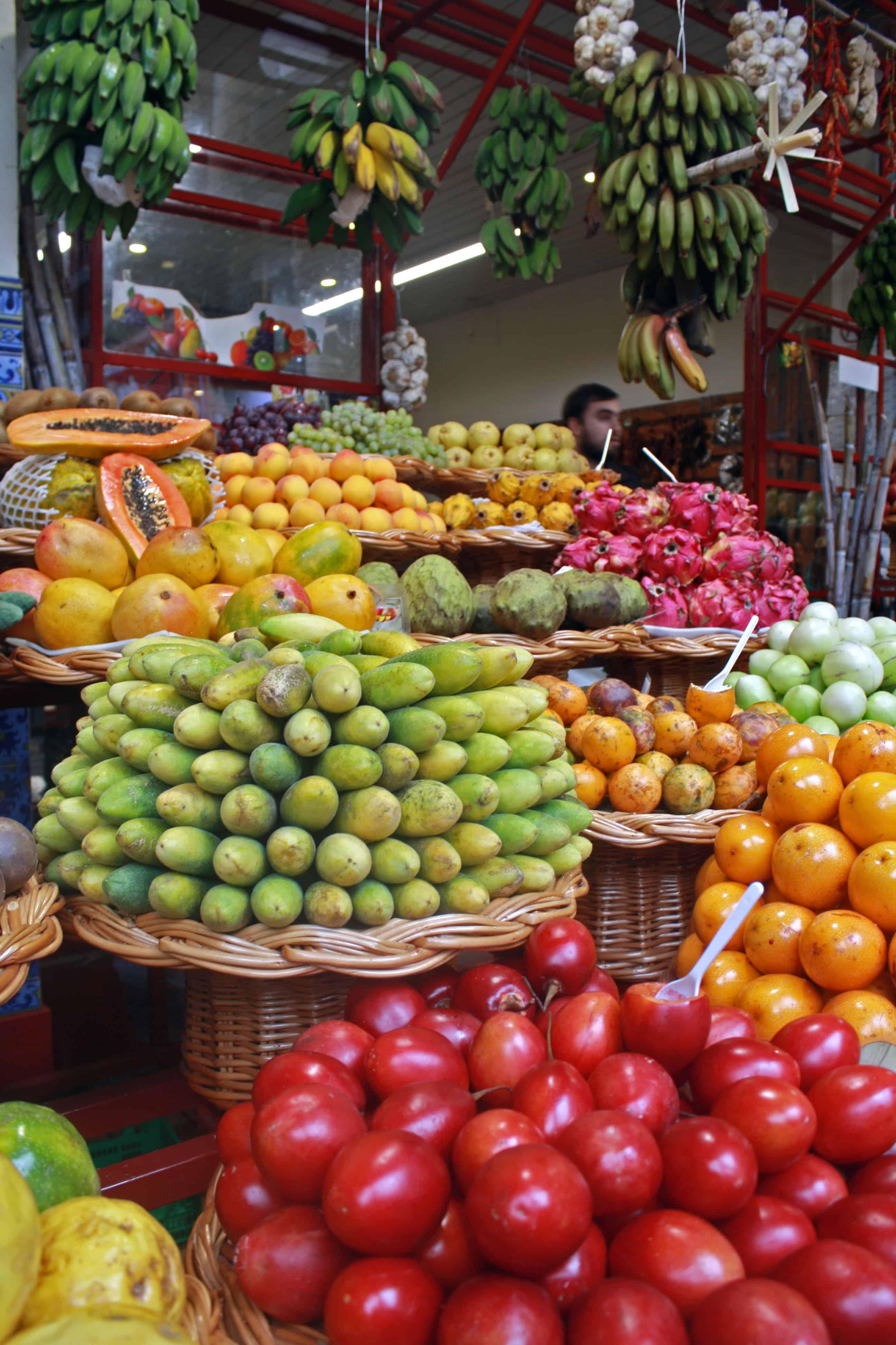 Fruit stall at Mercado dos Lavradores, Madeira