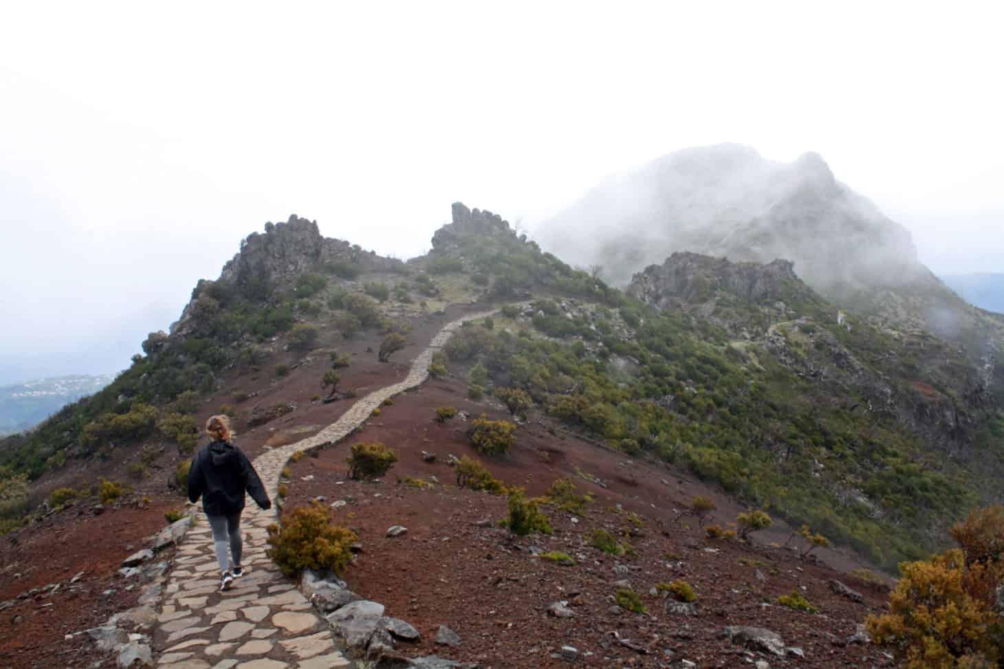Hiking Down Pico Ruivo, Madeira