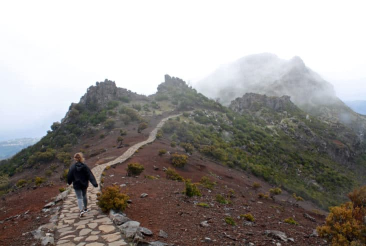 Hiking Down Pico Ruivo, Madeira