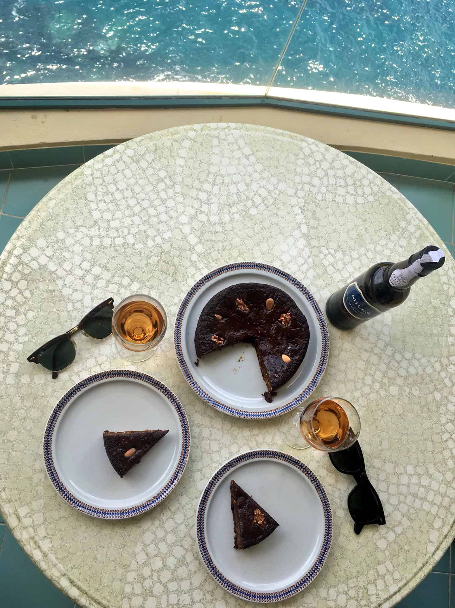 Madeira cake & Madeira wine by the see