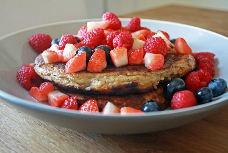 Banana and oat pancakes