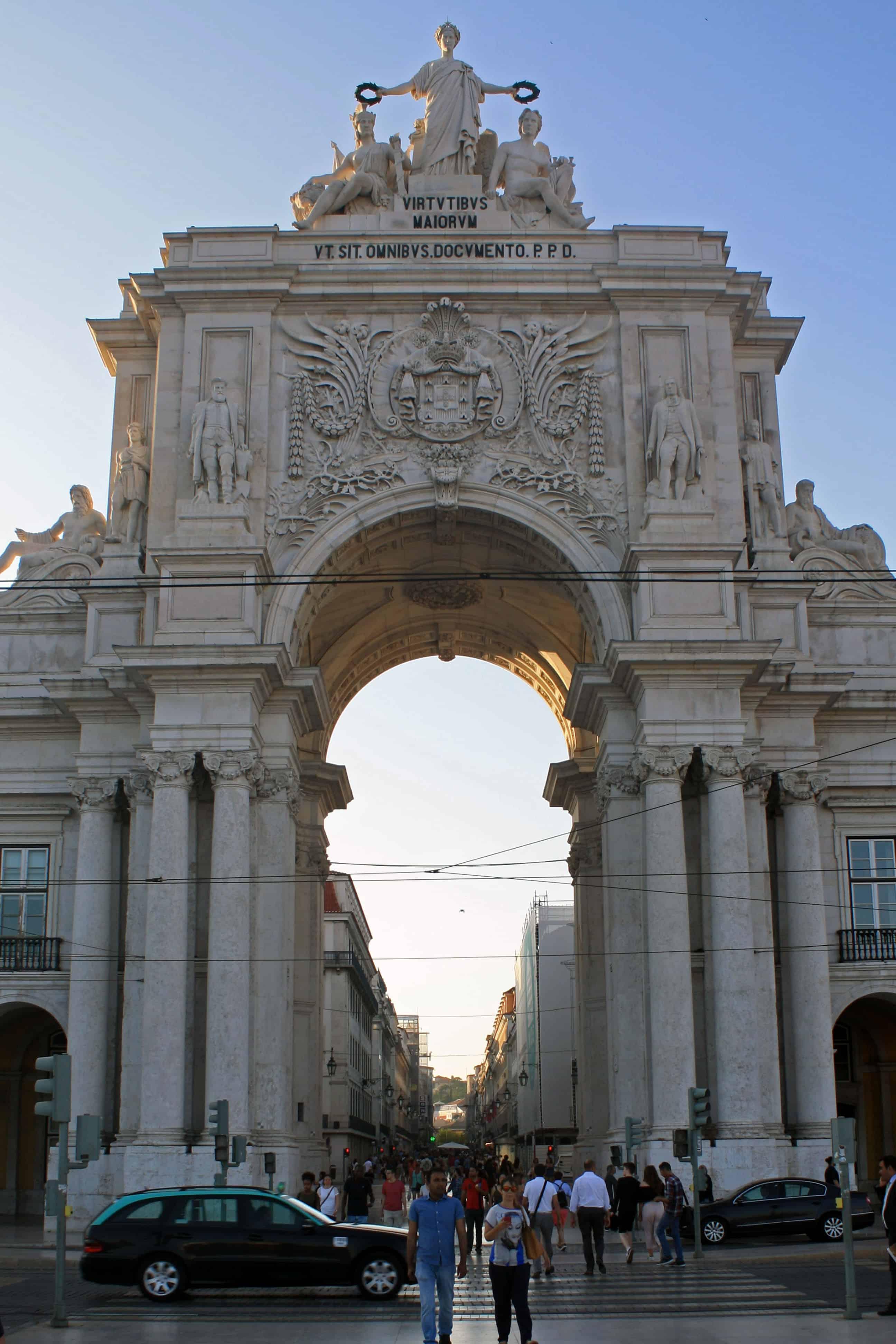 Rua Augusta Arch, Praça do Comércio, Lisbon