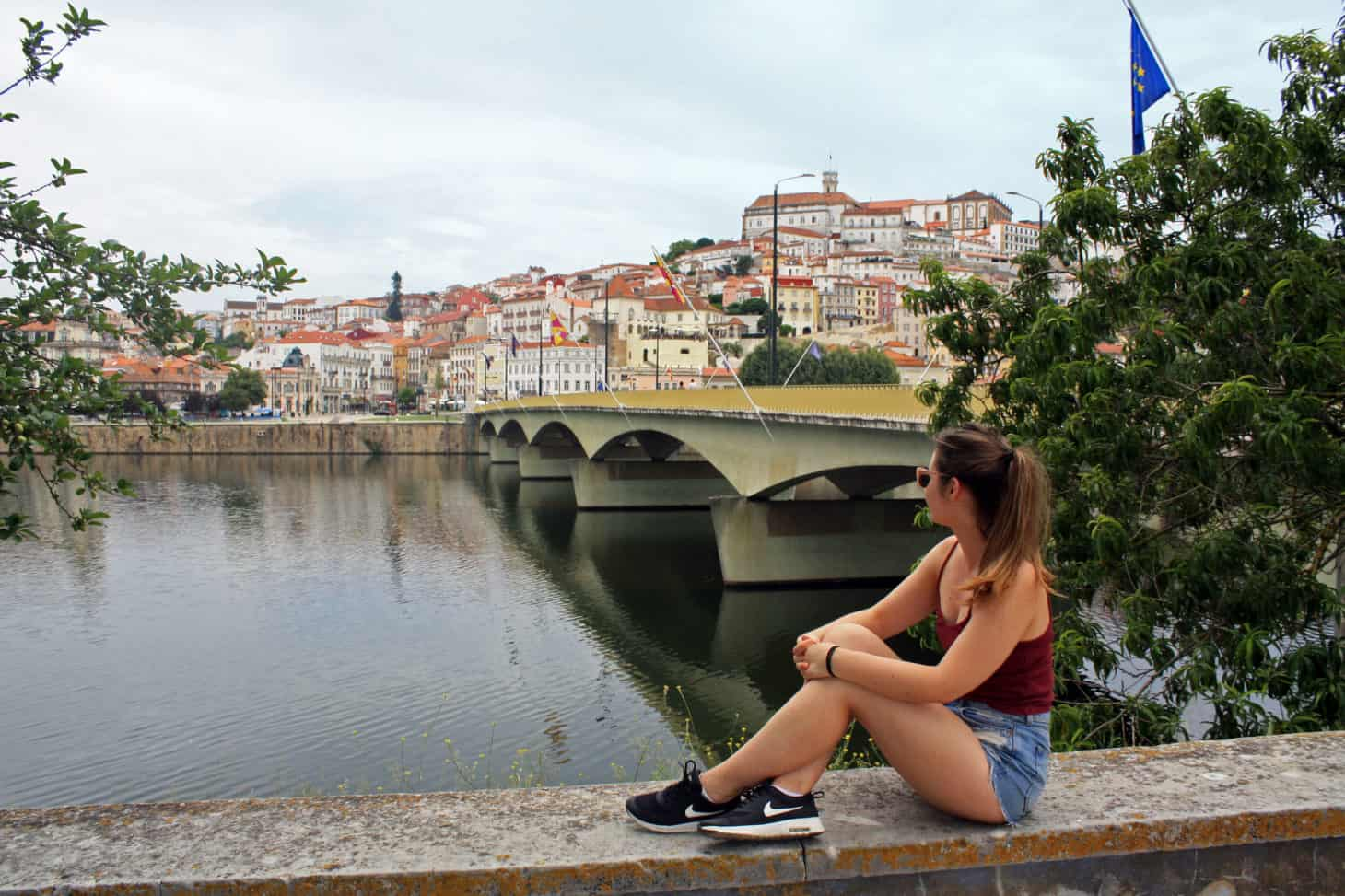 Looking at Coimbra over the Mondego River