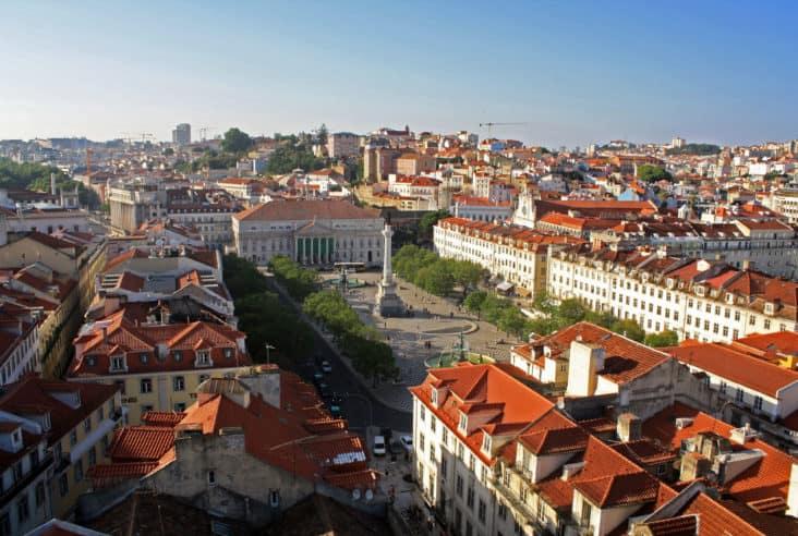 Rossio Square from Elevador de Santa Justa, Lisbon