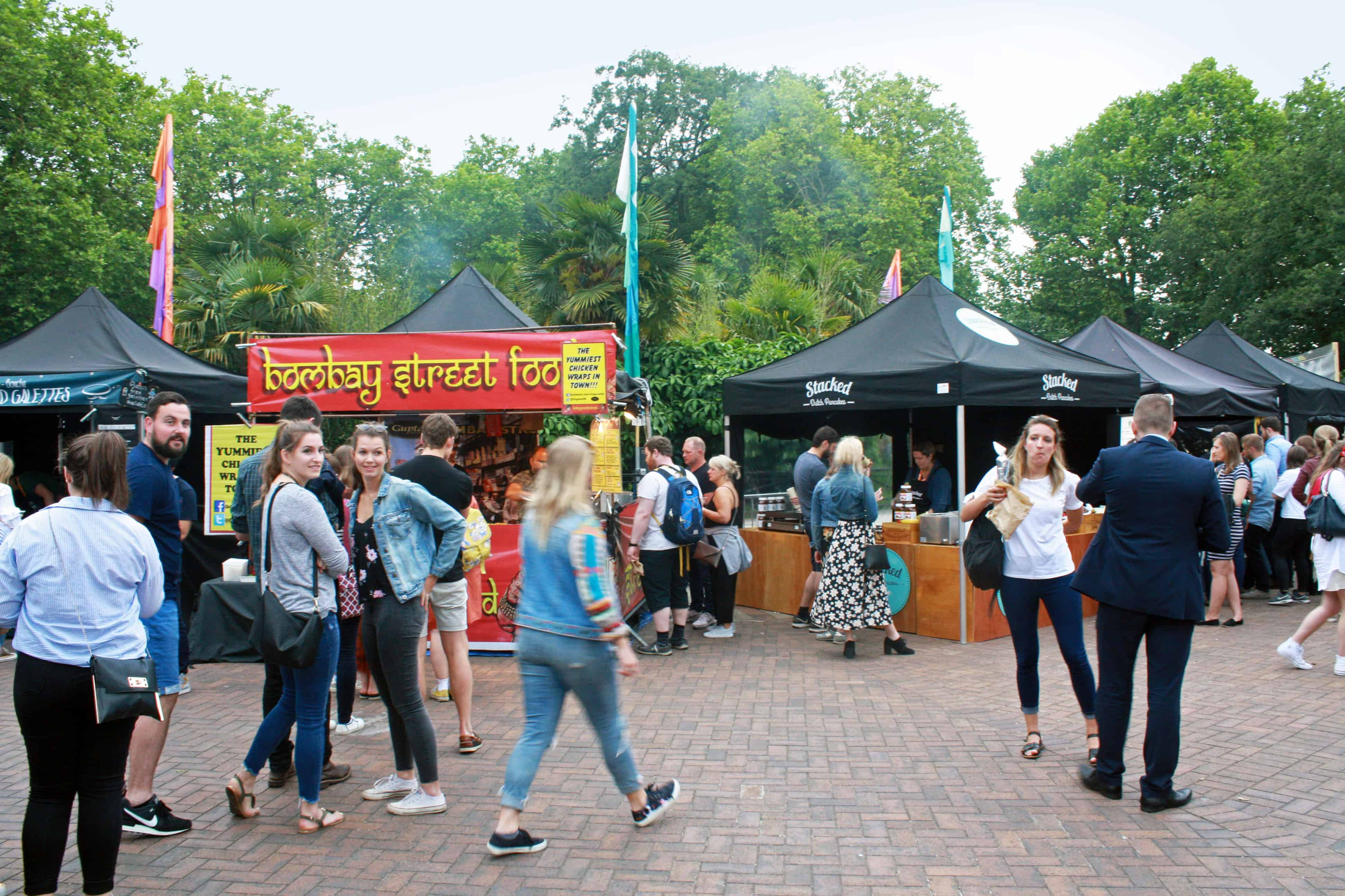 Street Food stands at ZSL Zoo Nights, London Zoo