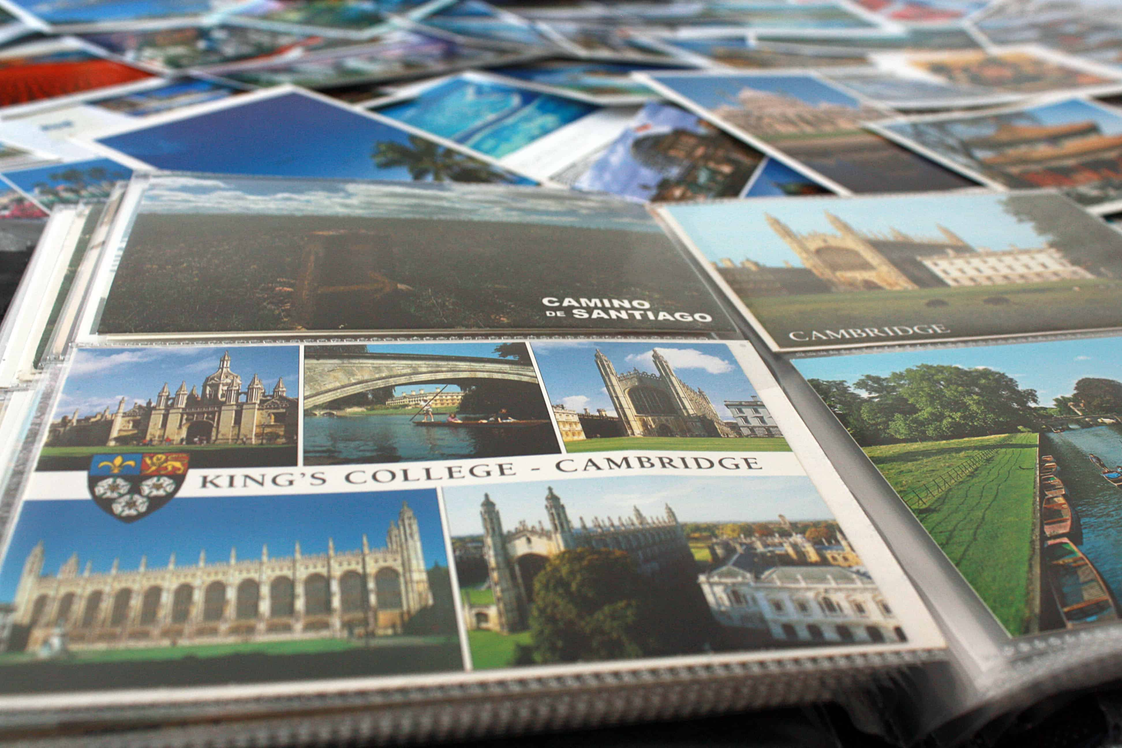 Camino de Santiago and Cambridge postcards and more