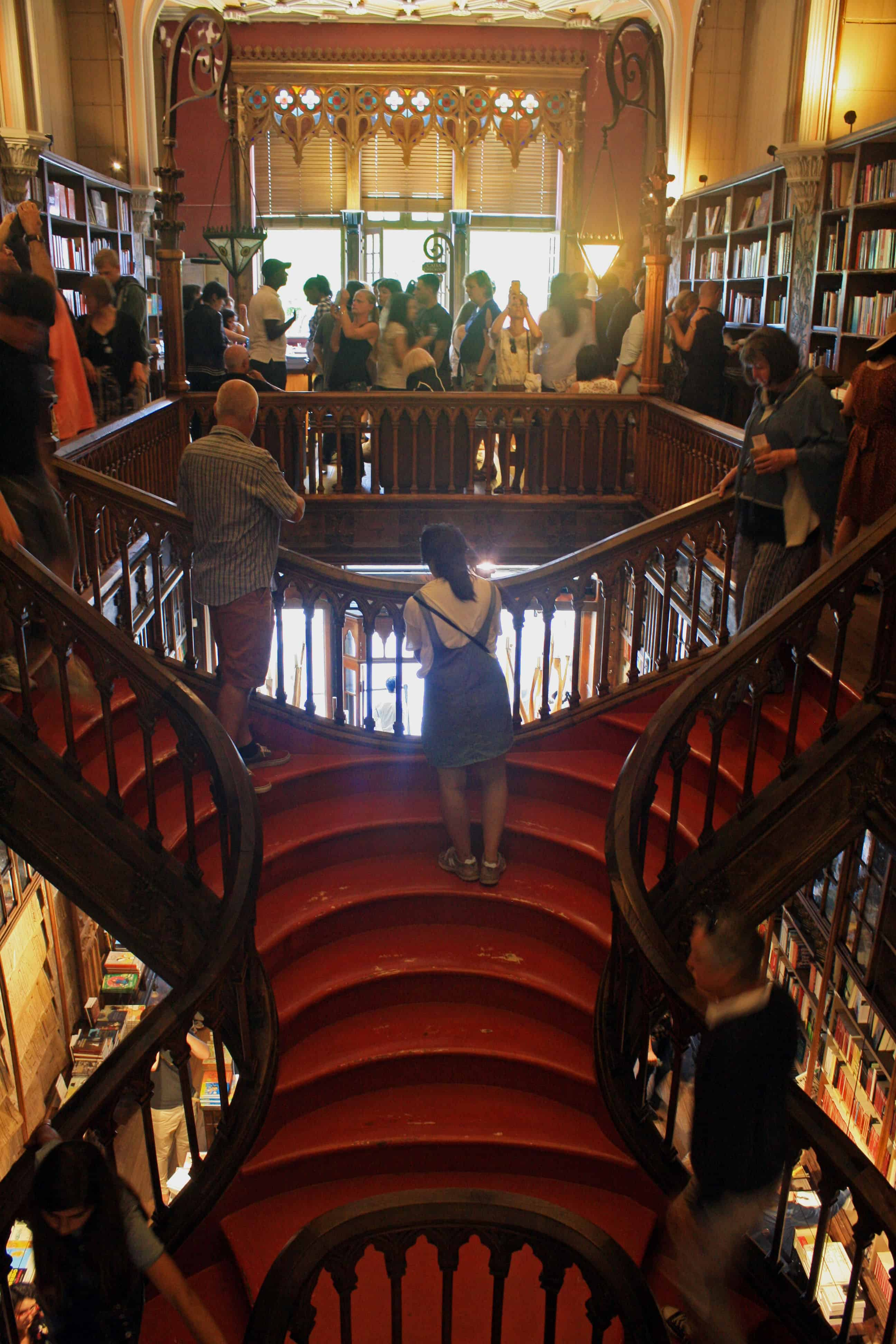Inside Livraria Lello Porto, Portugal