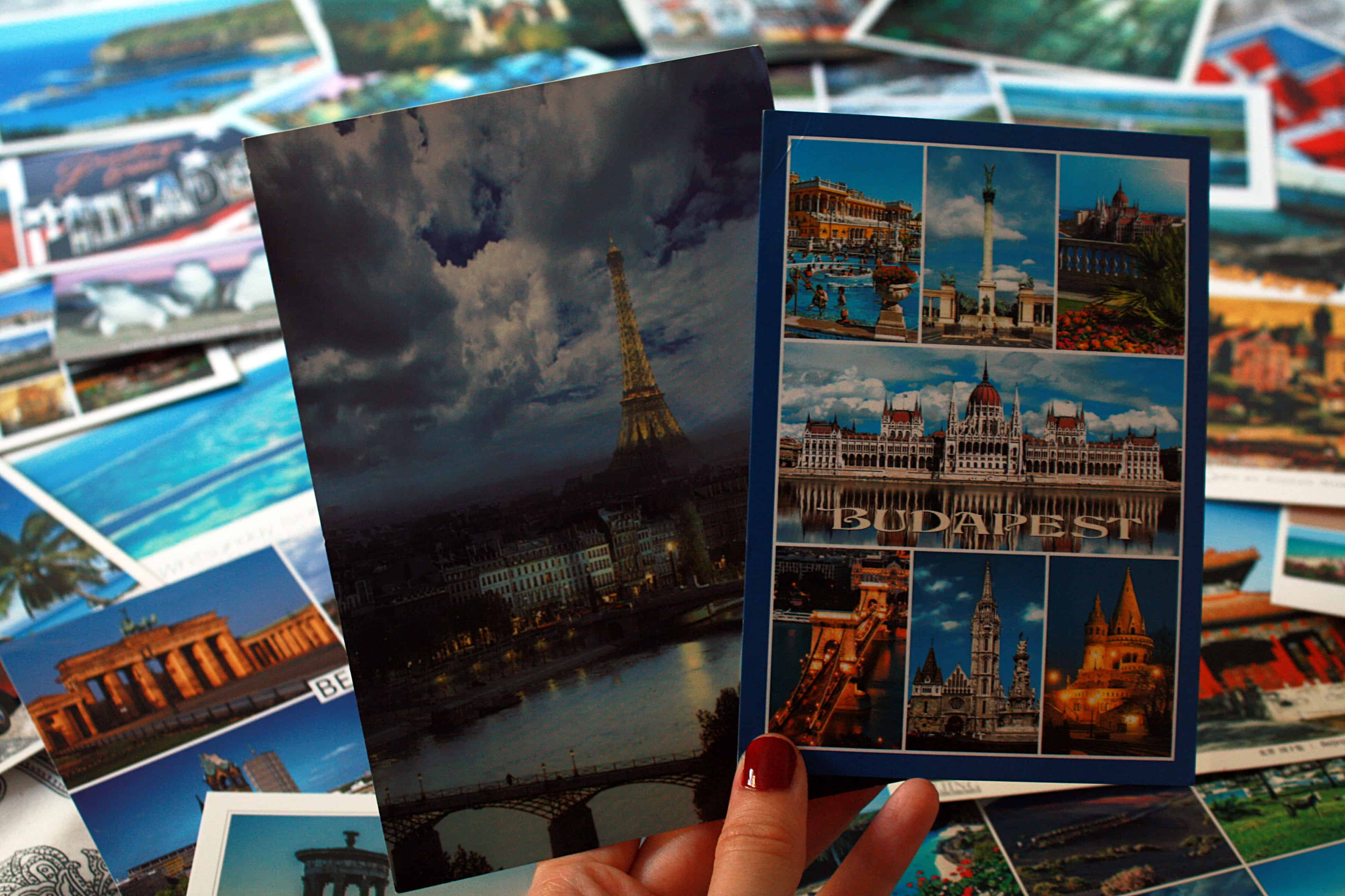My first and most recent postcards