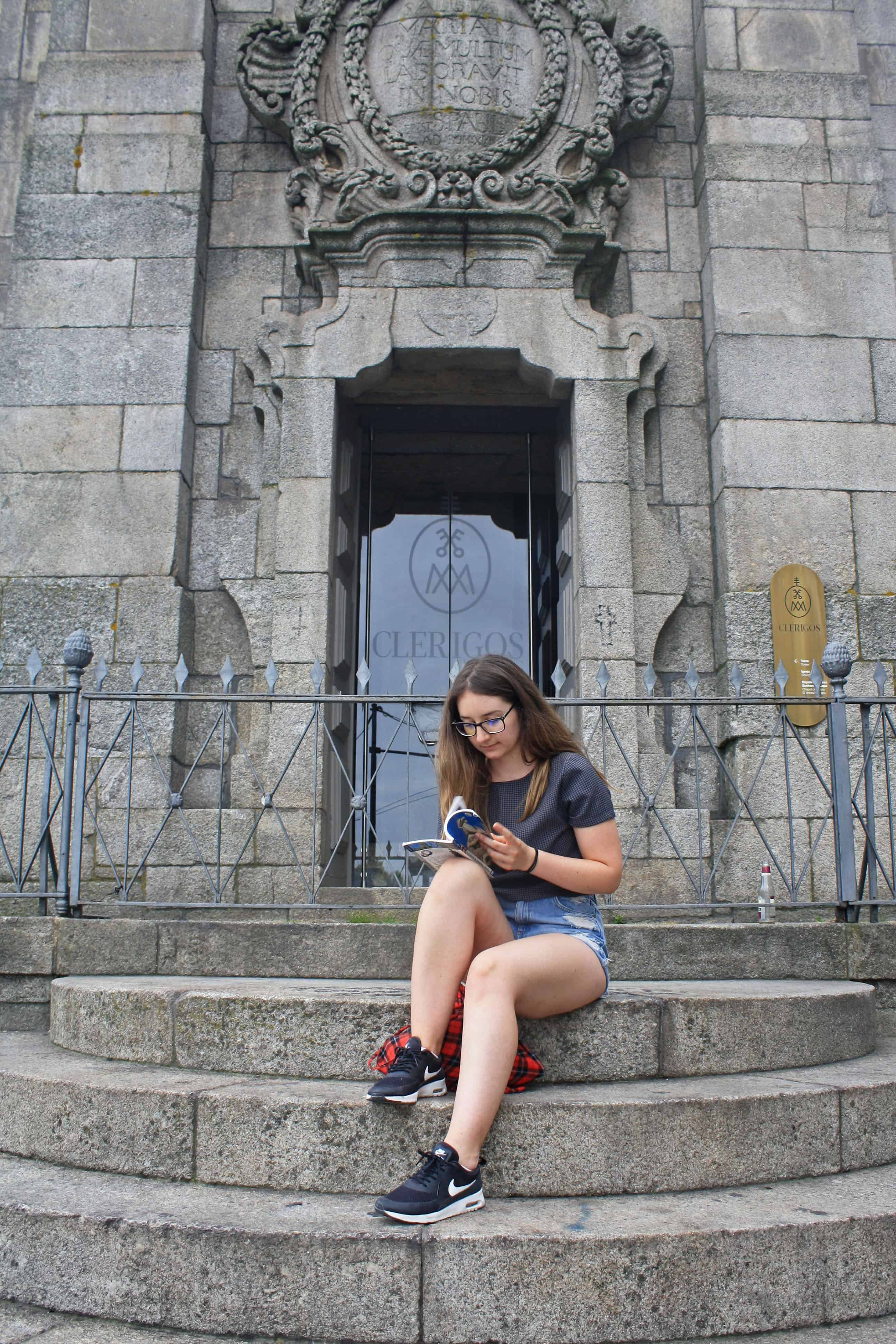 On the steps of Clérigos Tower, Porto