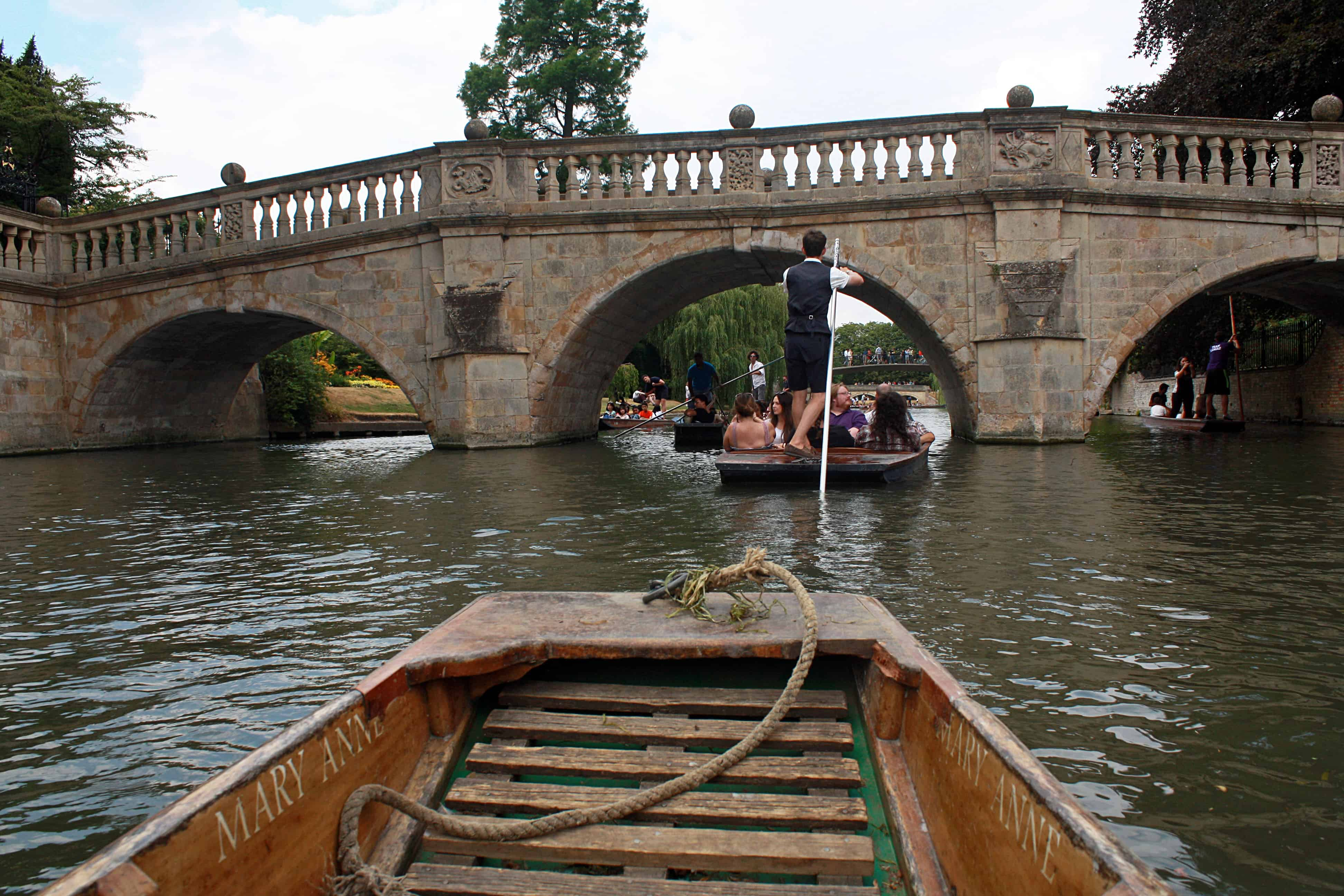 Punting along the River Cam, Cambridge
