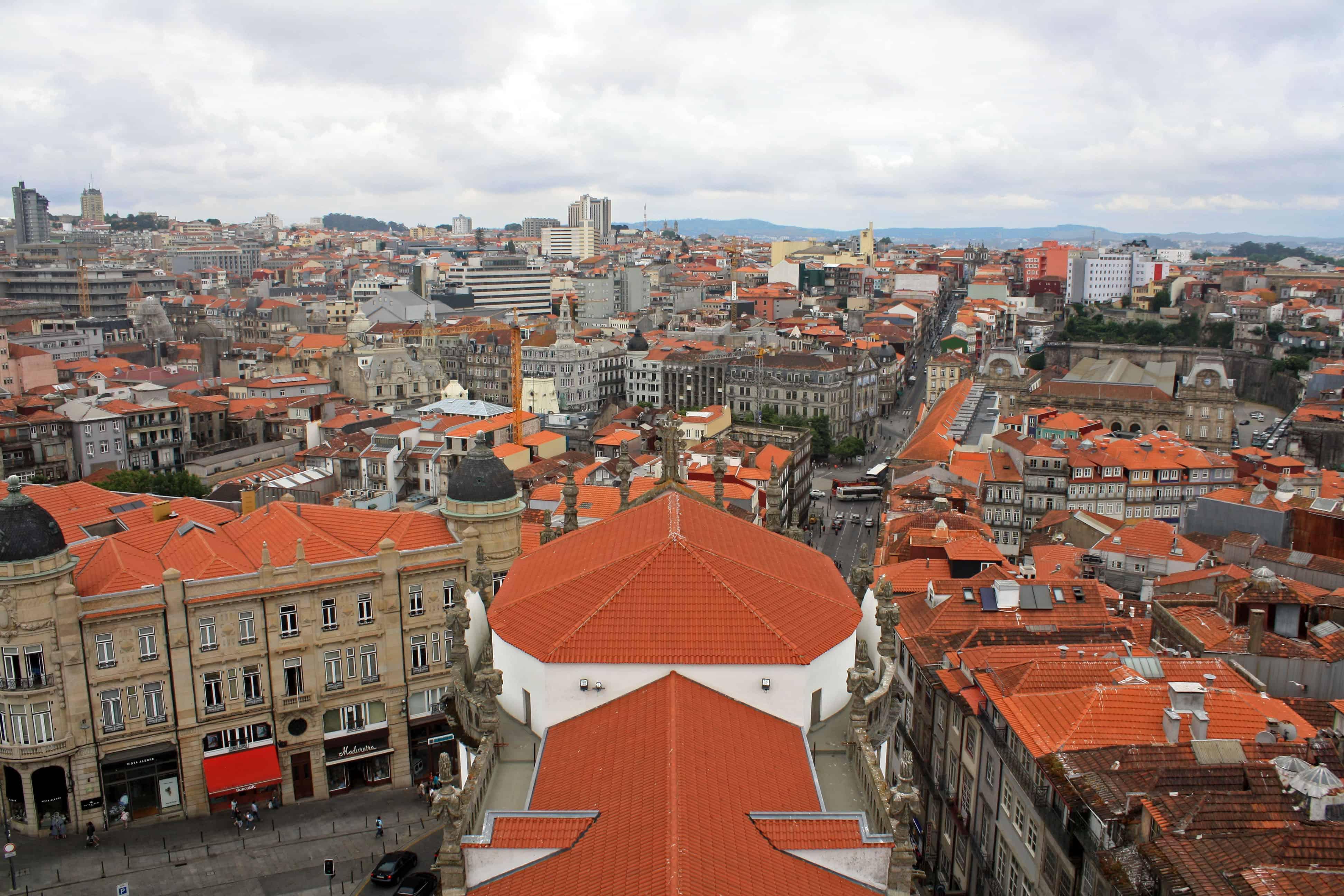 View from Clérigos Tower, Porto