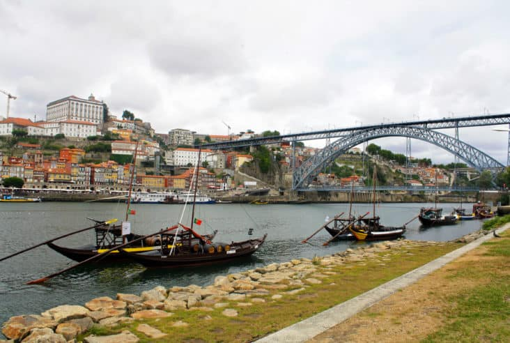 Wine boats on the River Douro, Porto