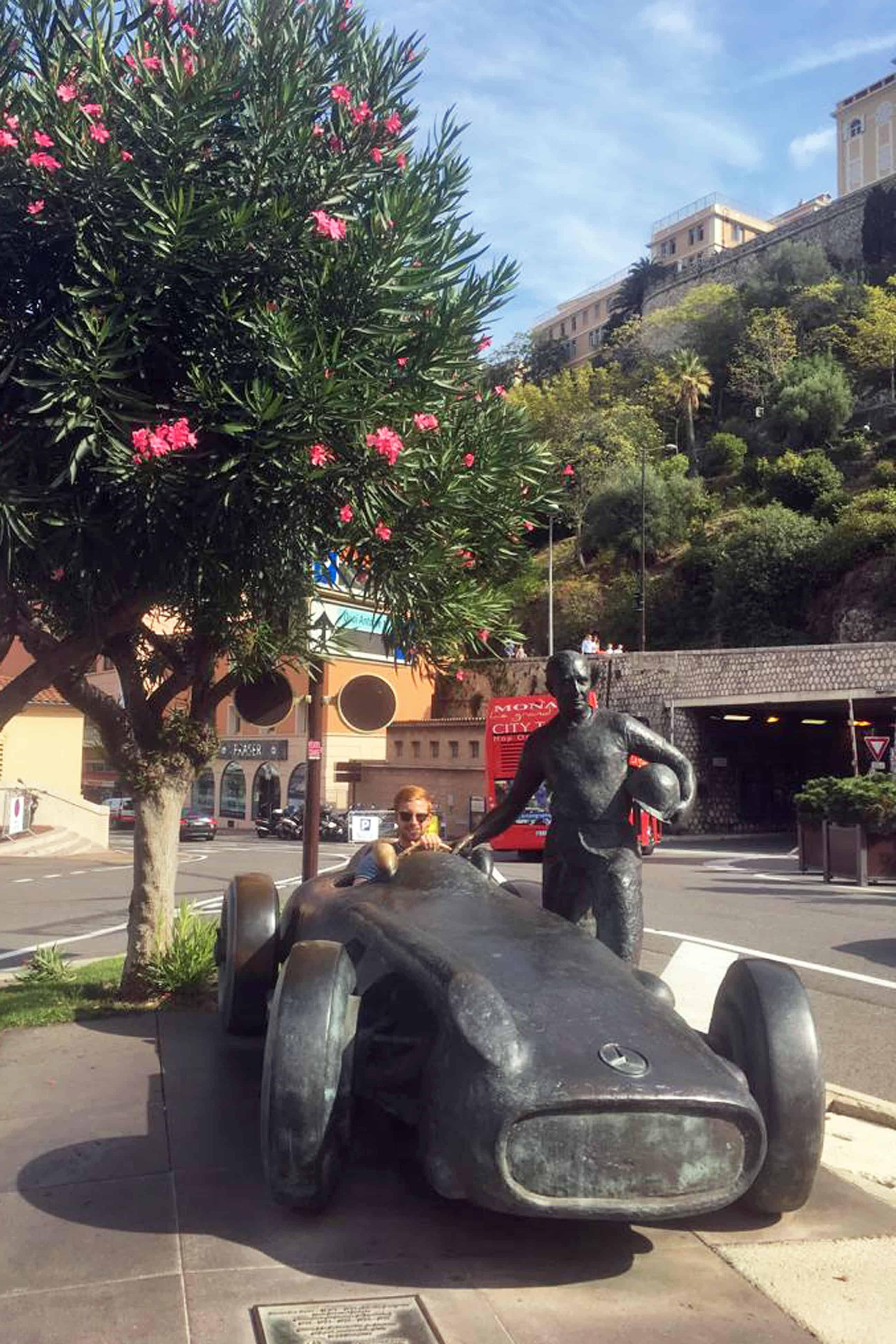 Juan Manuel Fangio Statue, Monaco