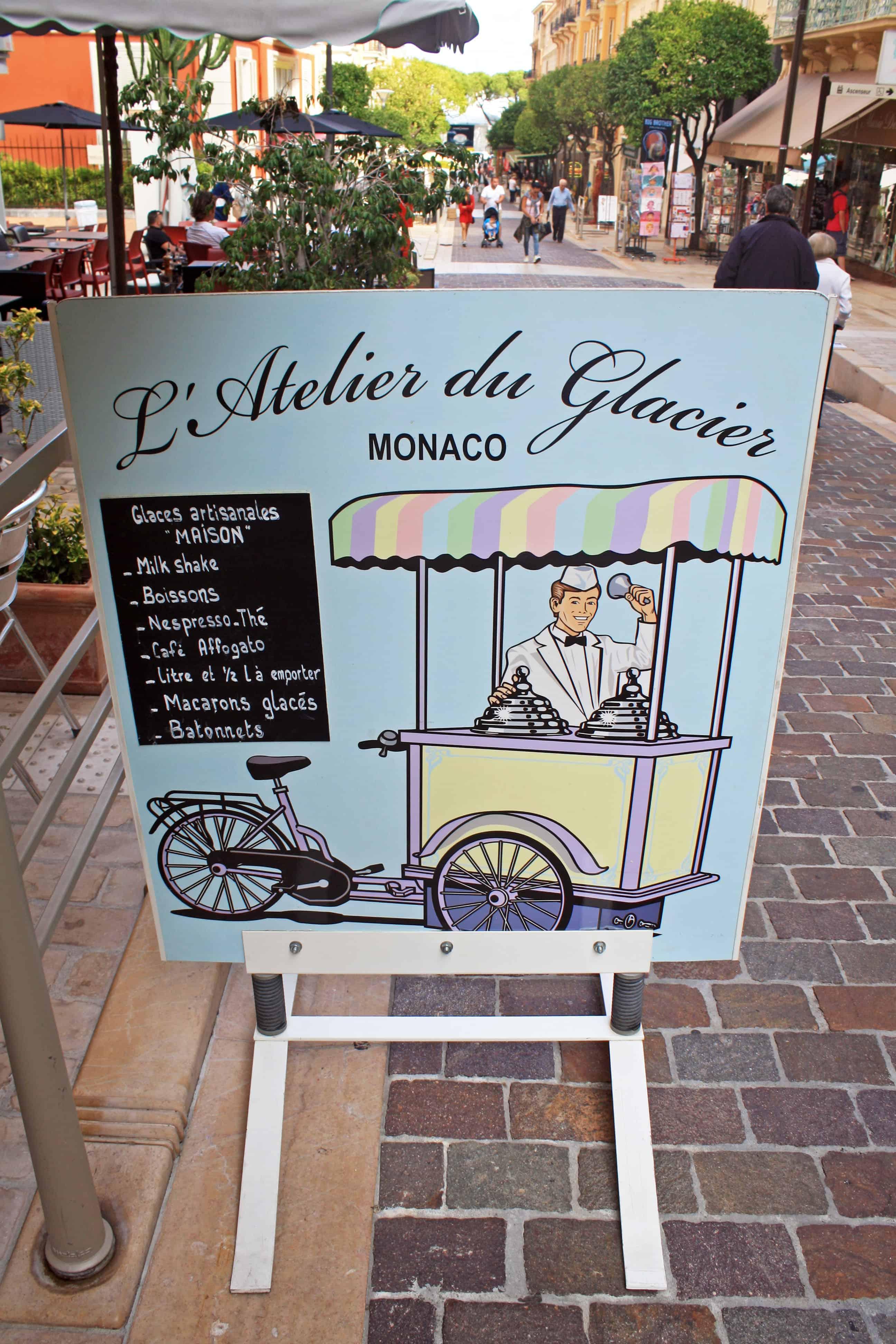 L'Atelier du Glacier, Monaco sign