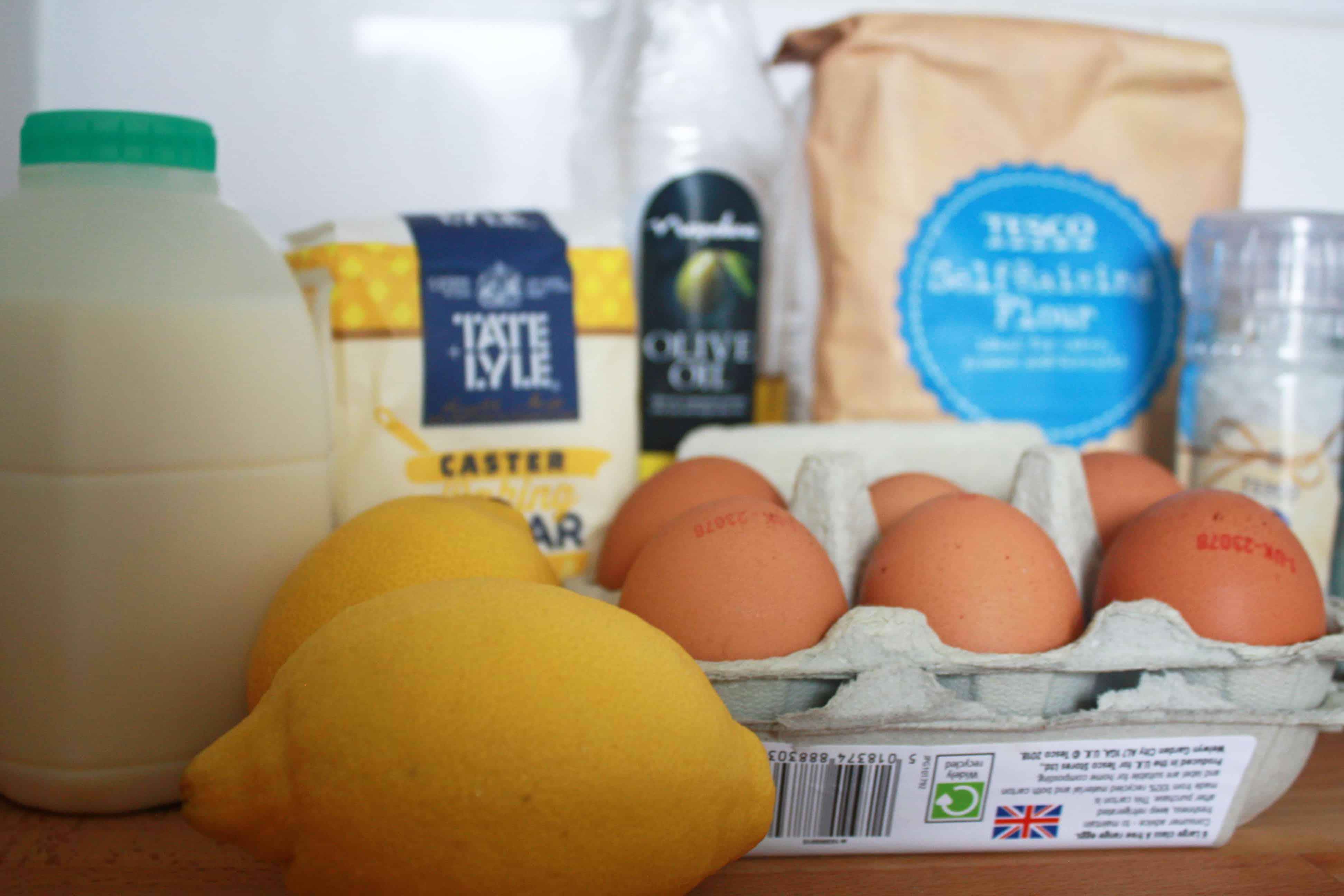 Lemon drizzle cake ingredients