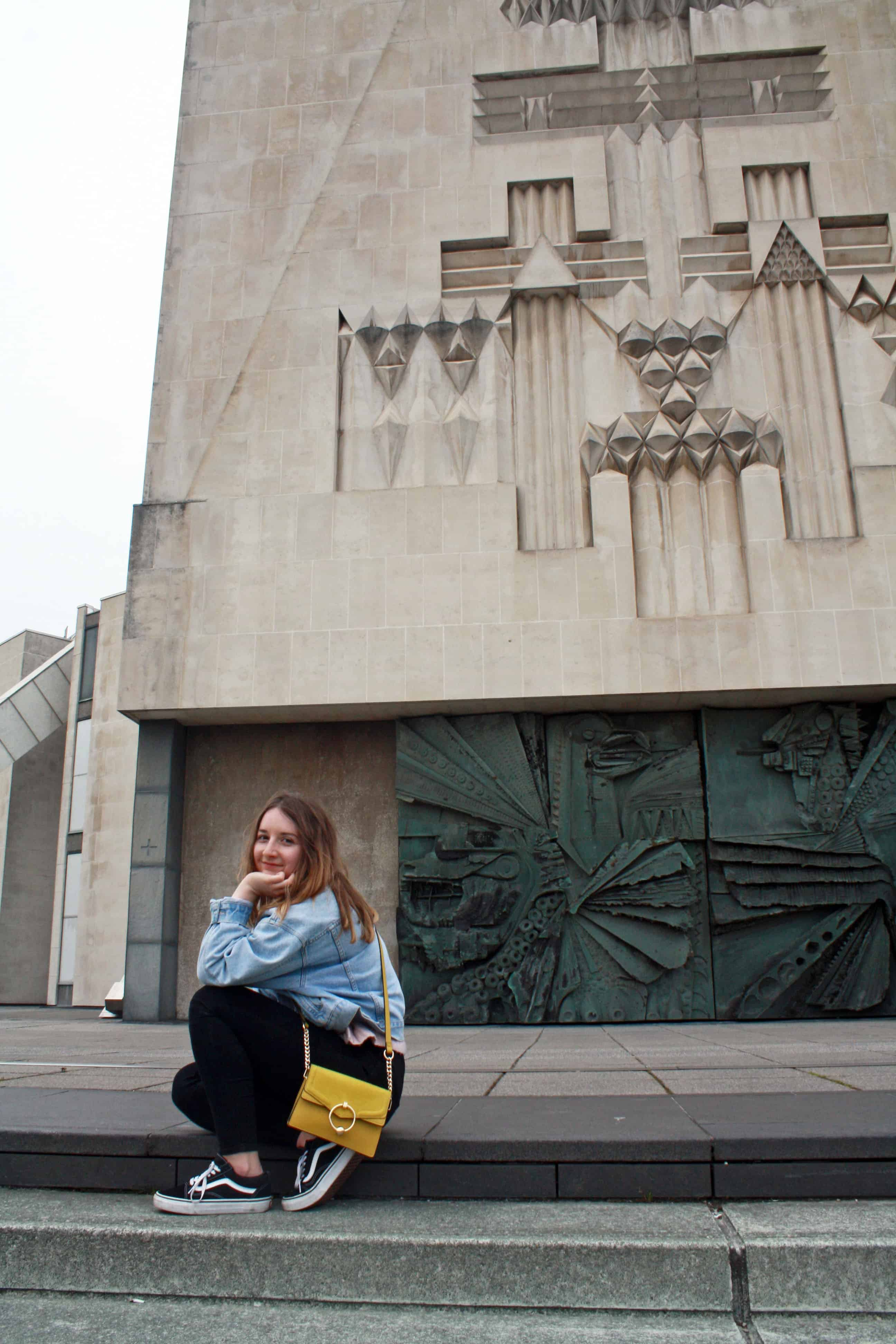 On the steps of Liverpool Metropolitan Cathedral