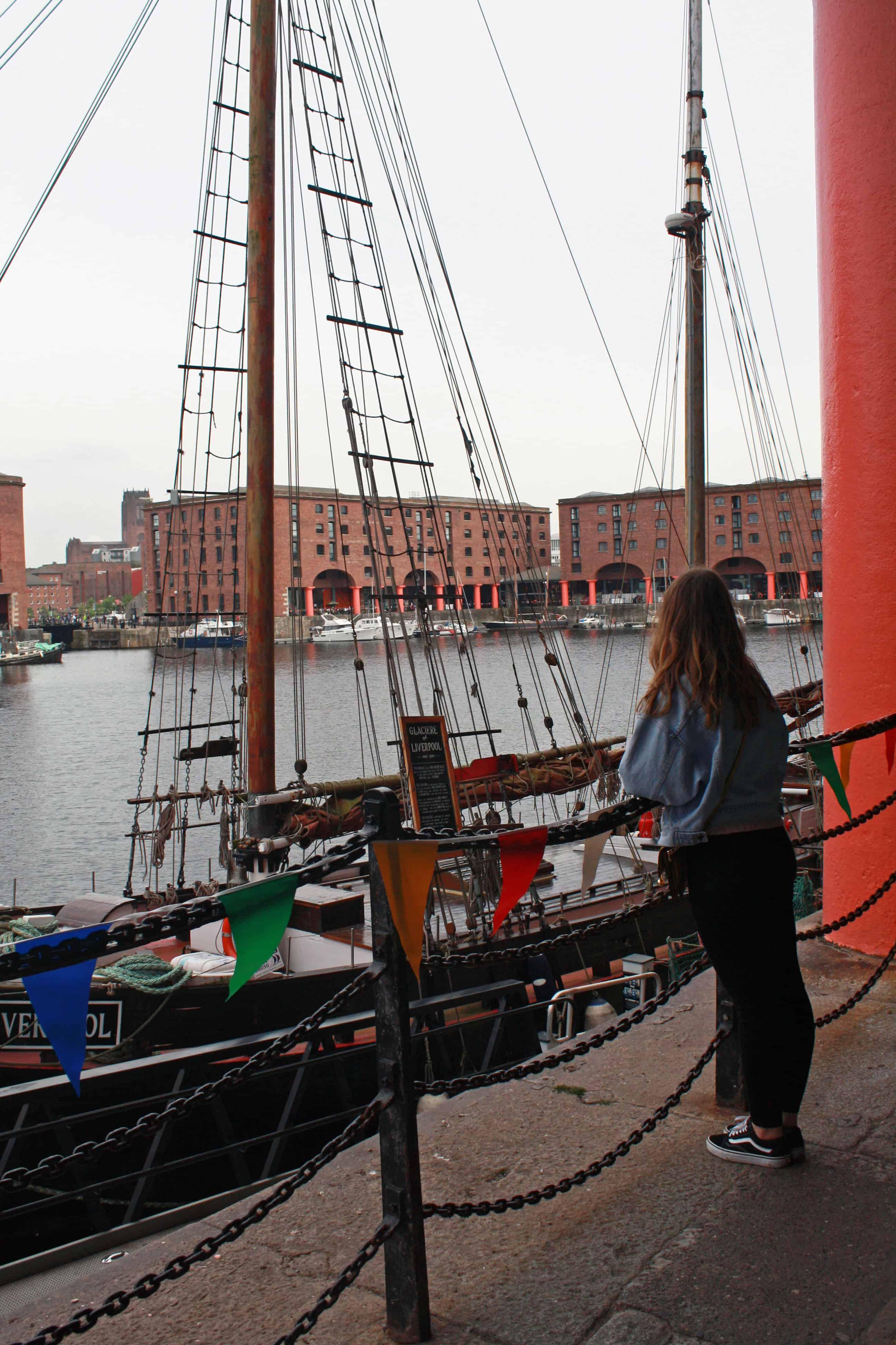 Standing in Albert Dock, Liverpool