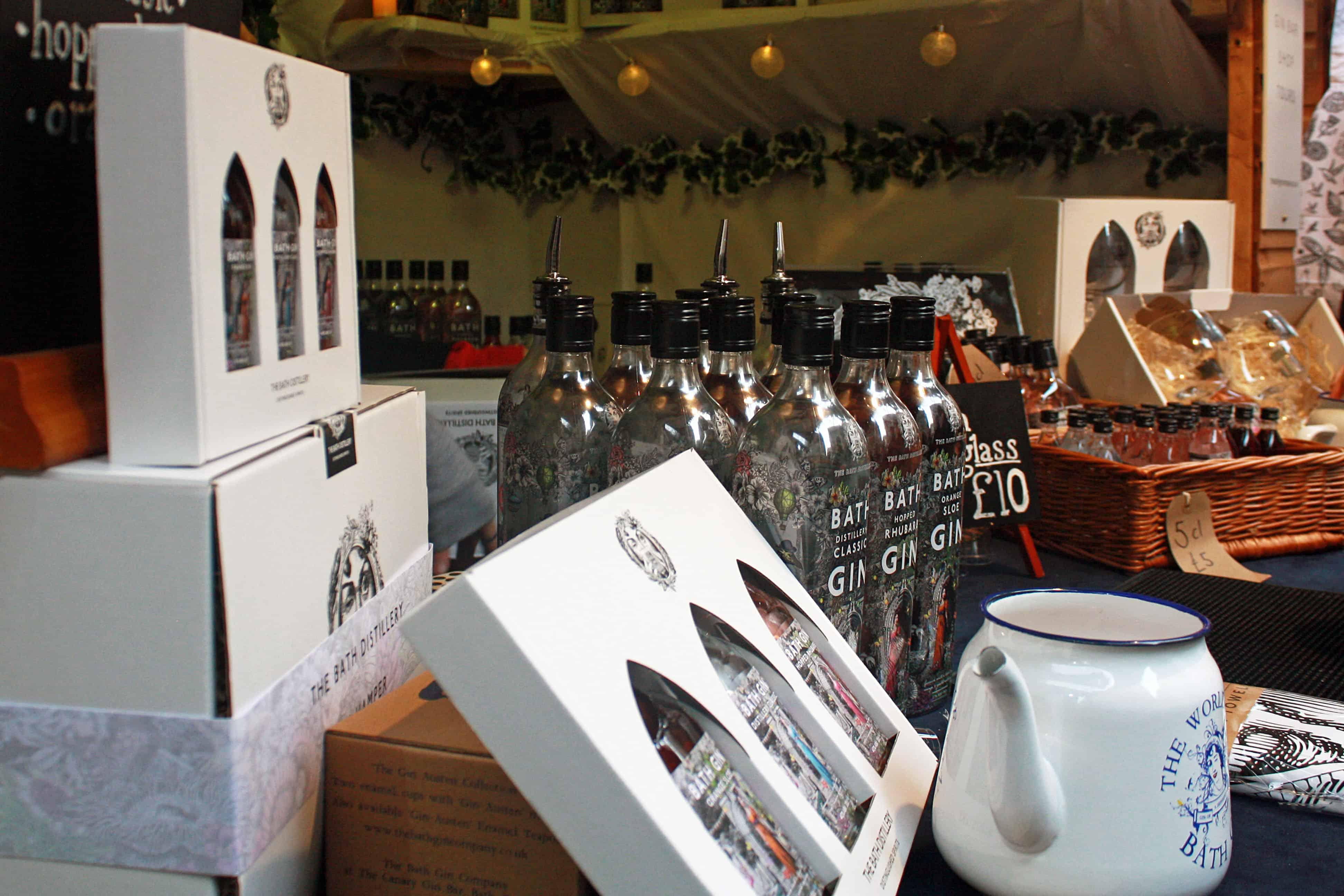Bath Gin stall, Bath Christmas Market