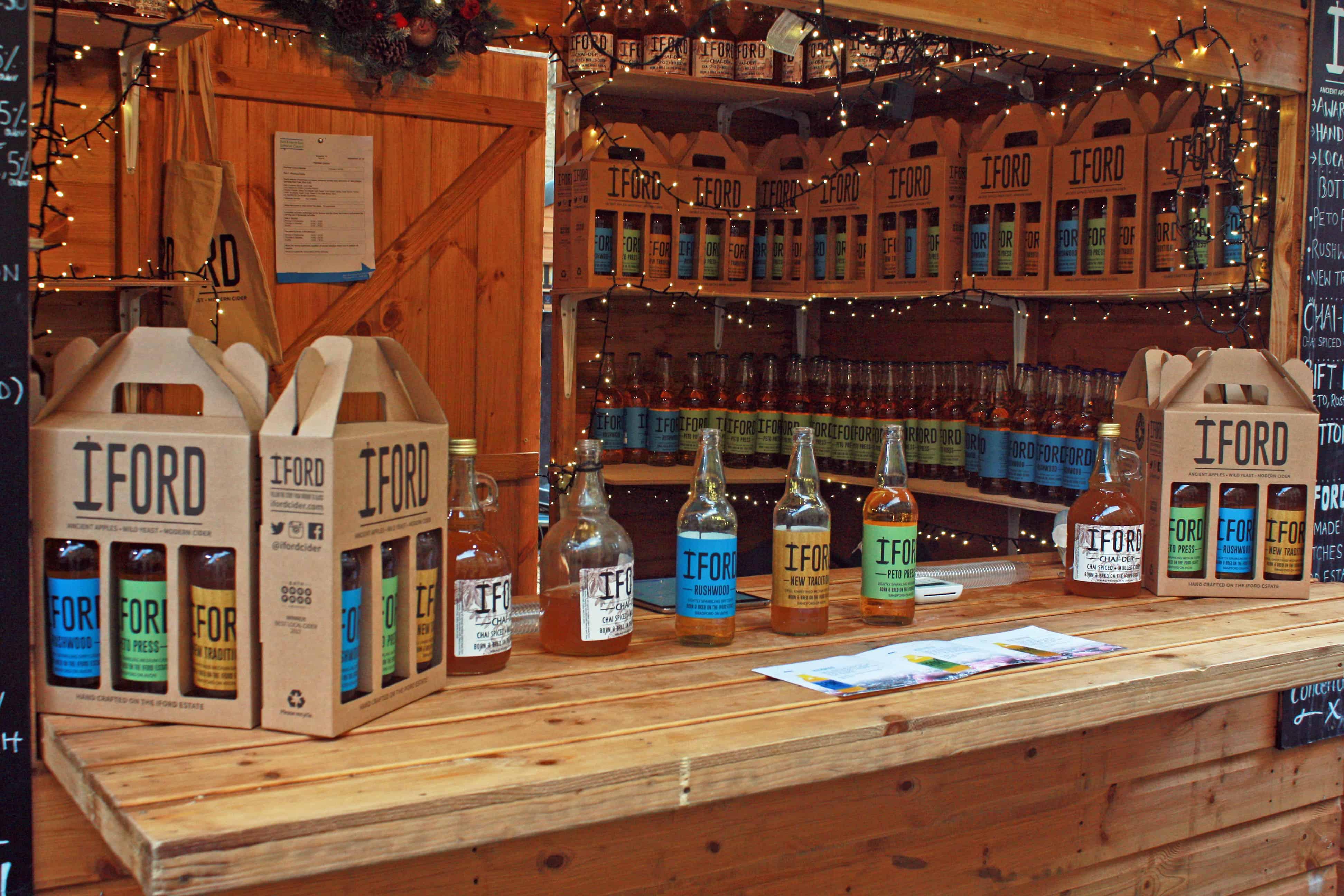 Iford Cider stall, Bath Christmas Market