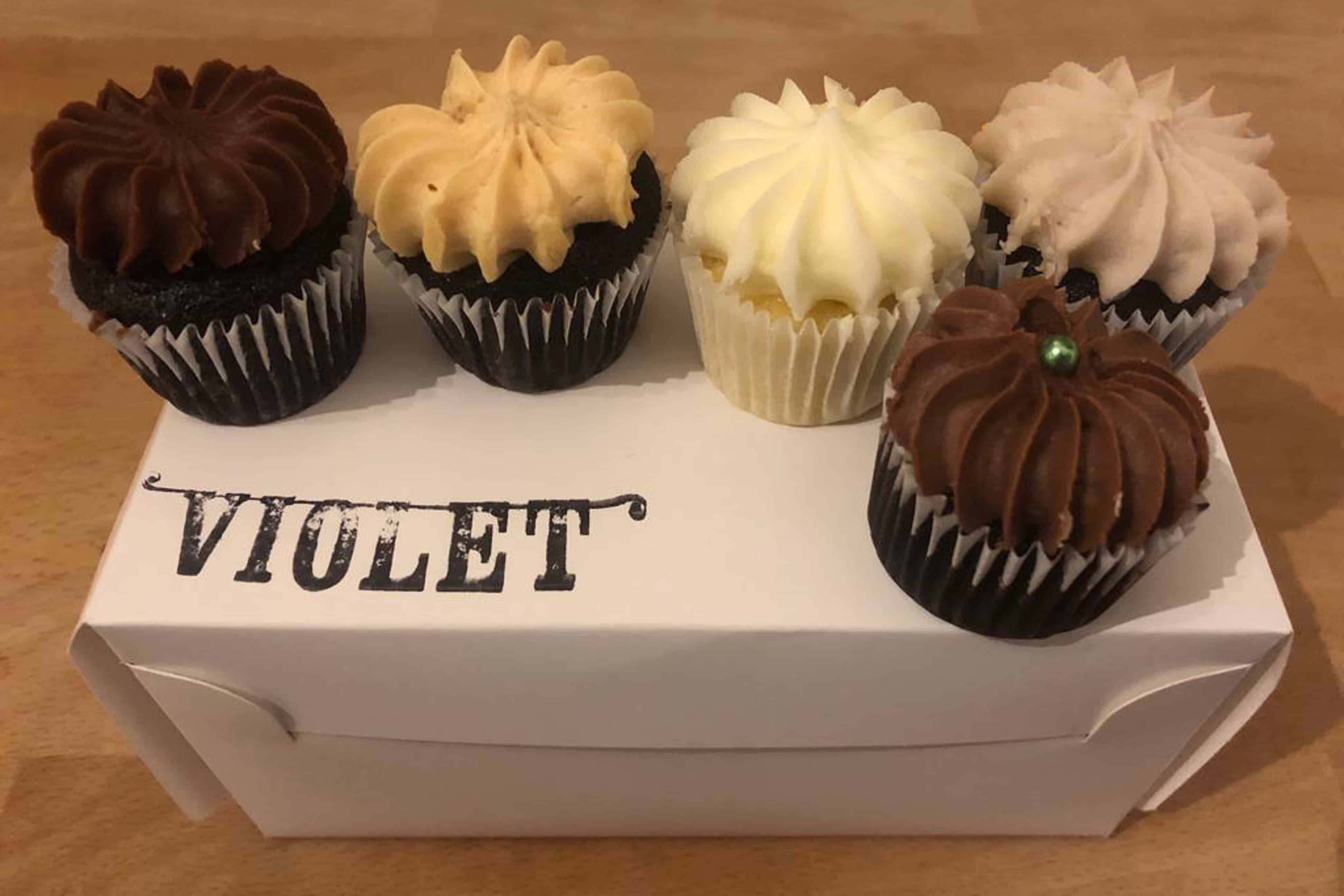 Cupcakes from Violet Bakery, Hackney