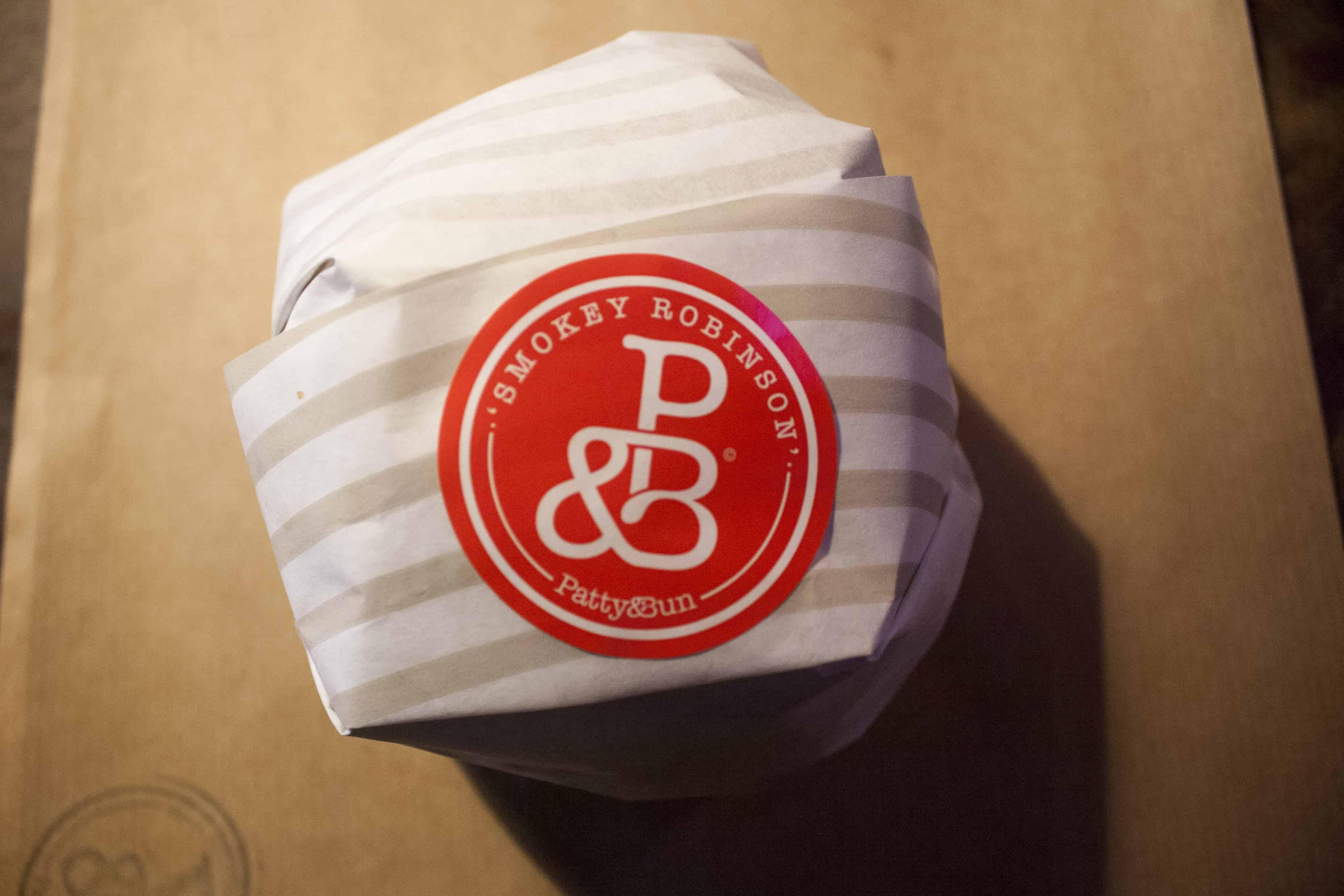 Patty and Bun Smokey Robinson Burger wrapped