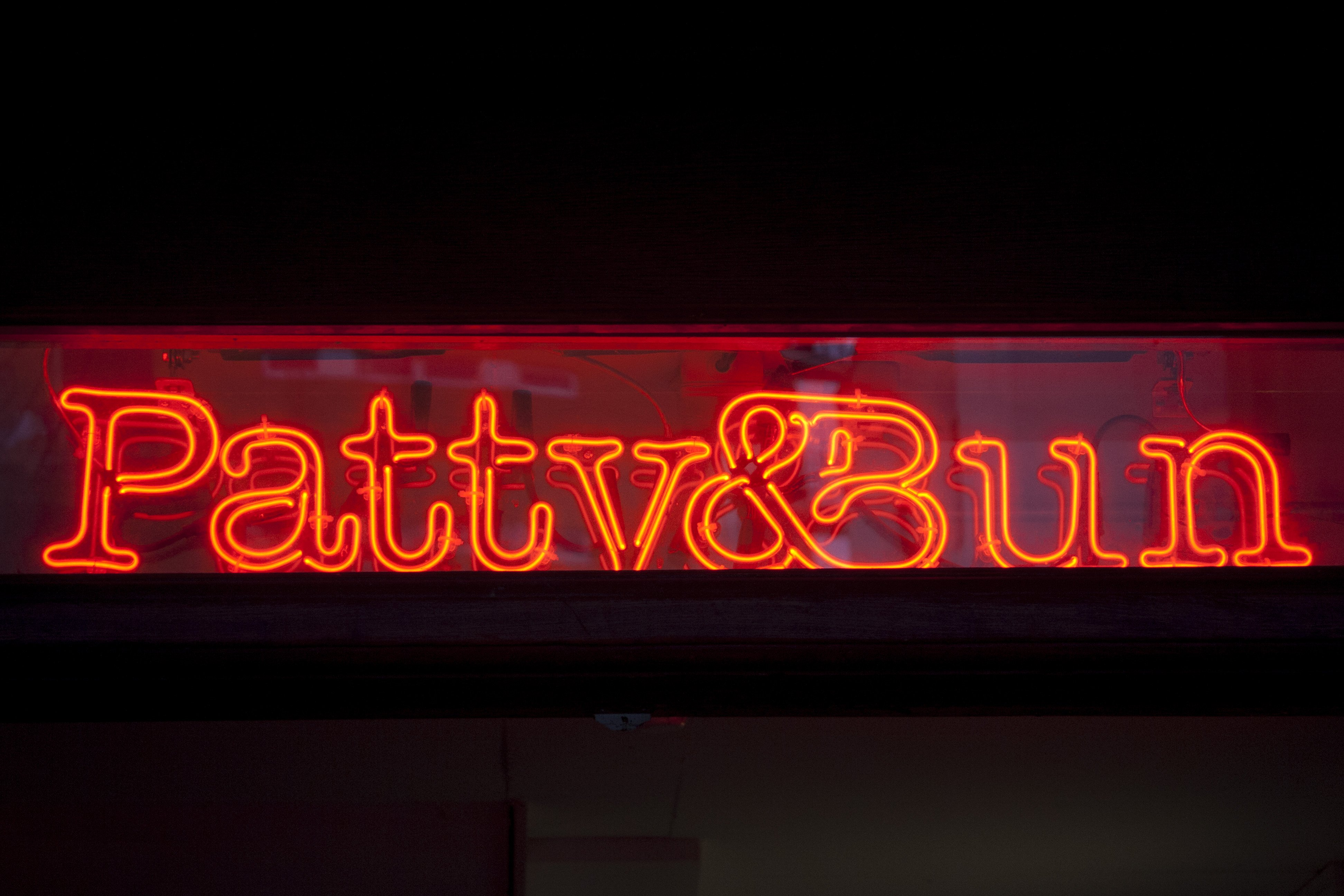 Patty and Bun neon sign