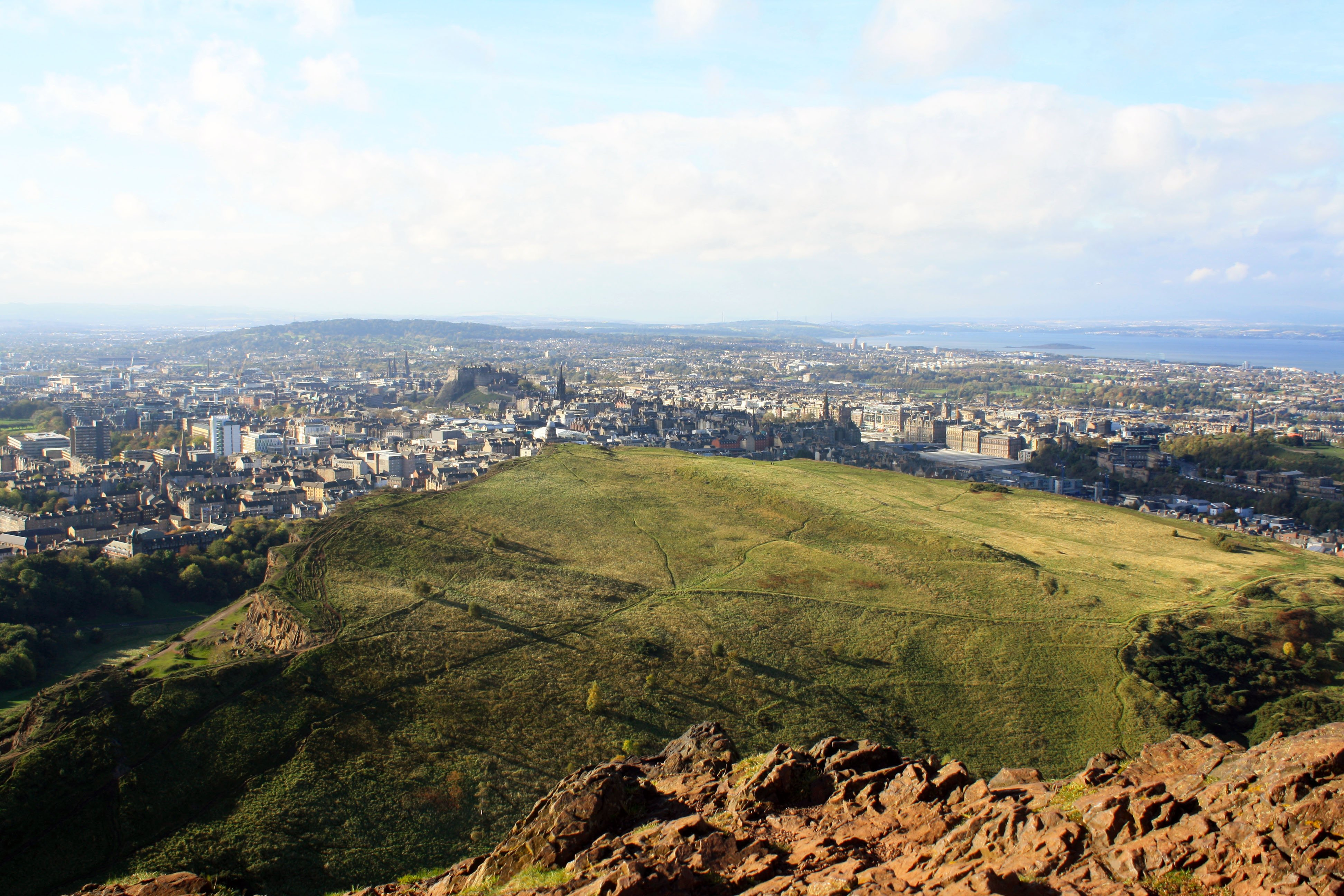 Arthur's Seat view of Edinburgh