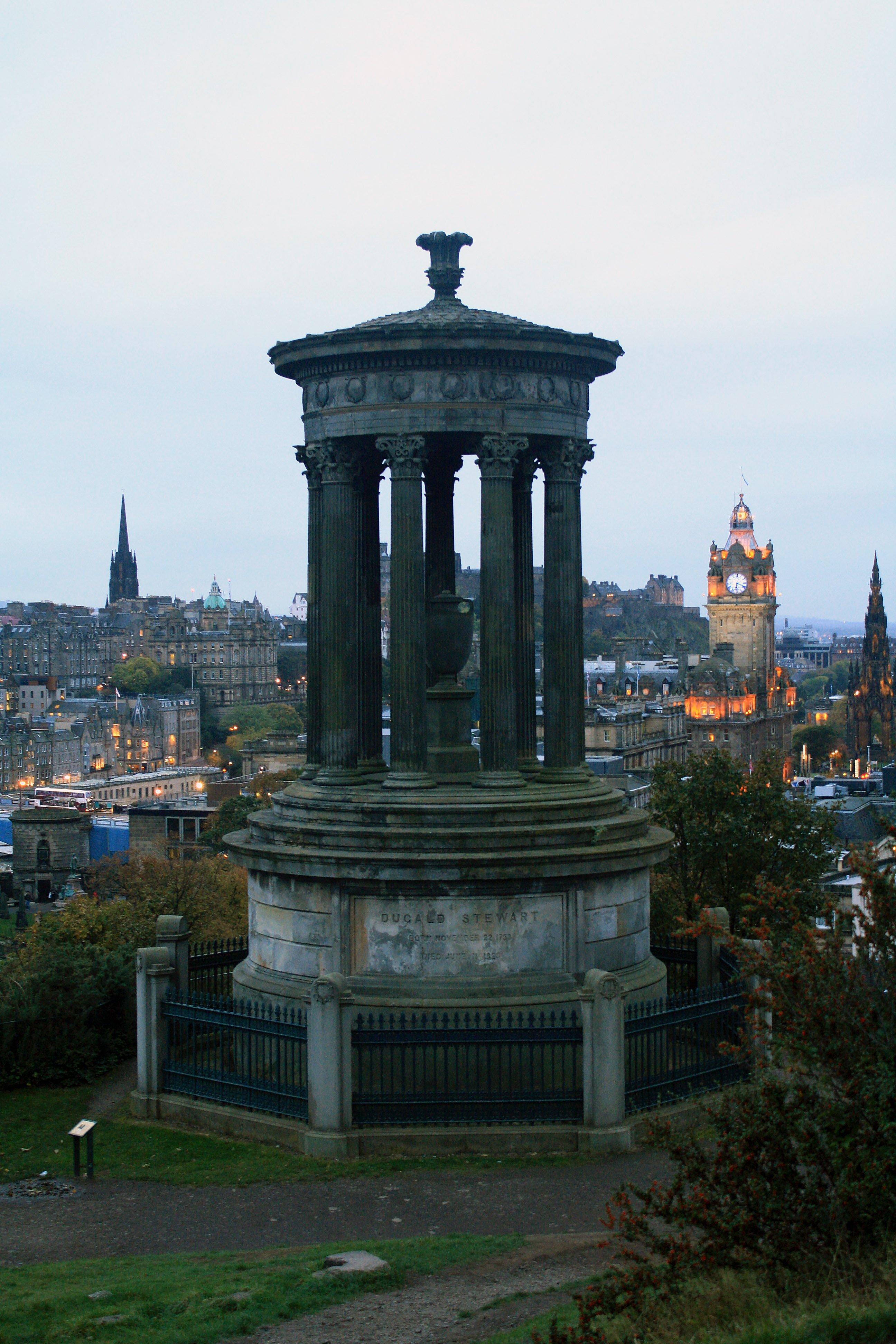 Dugald Stewart monument Calton Hill, Edinburgh