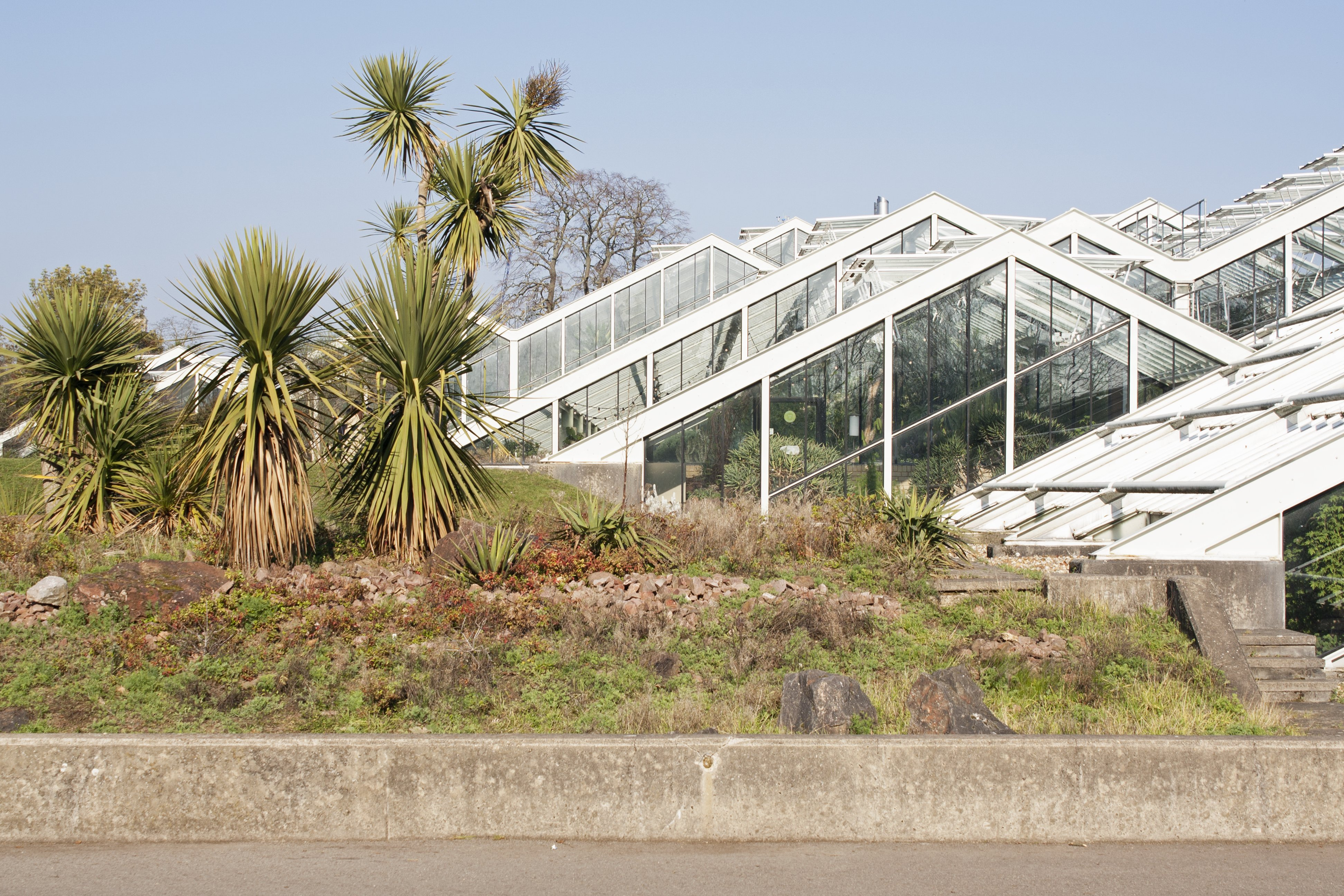 Kew Gardens Princess of Wales conservatory outside