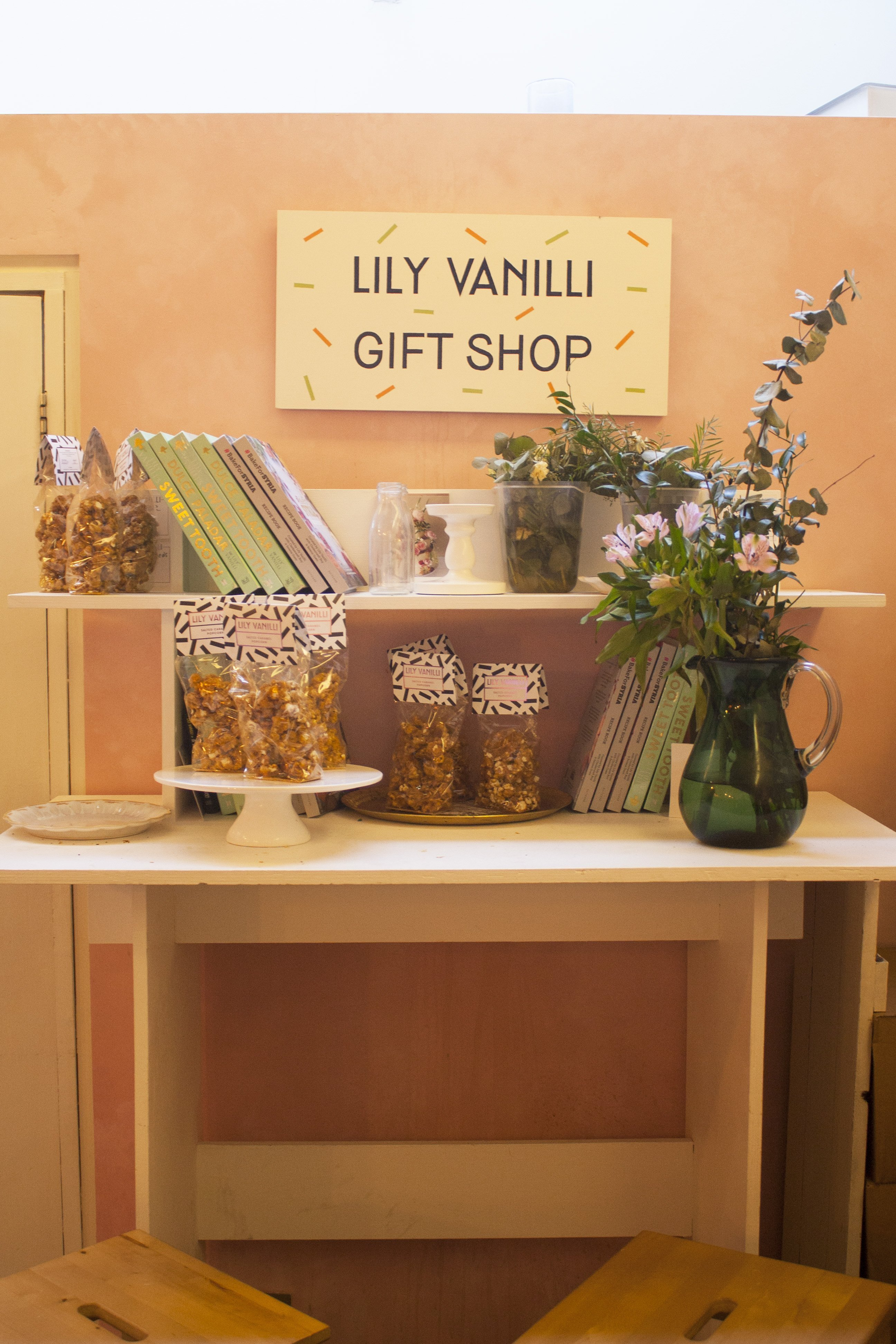Lily Vanilli Bakery gift shop