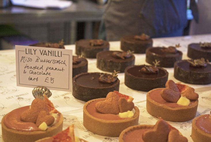 Lily Vanilli Bakery miso butterscotch toasted peanut and chocolate tarts