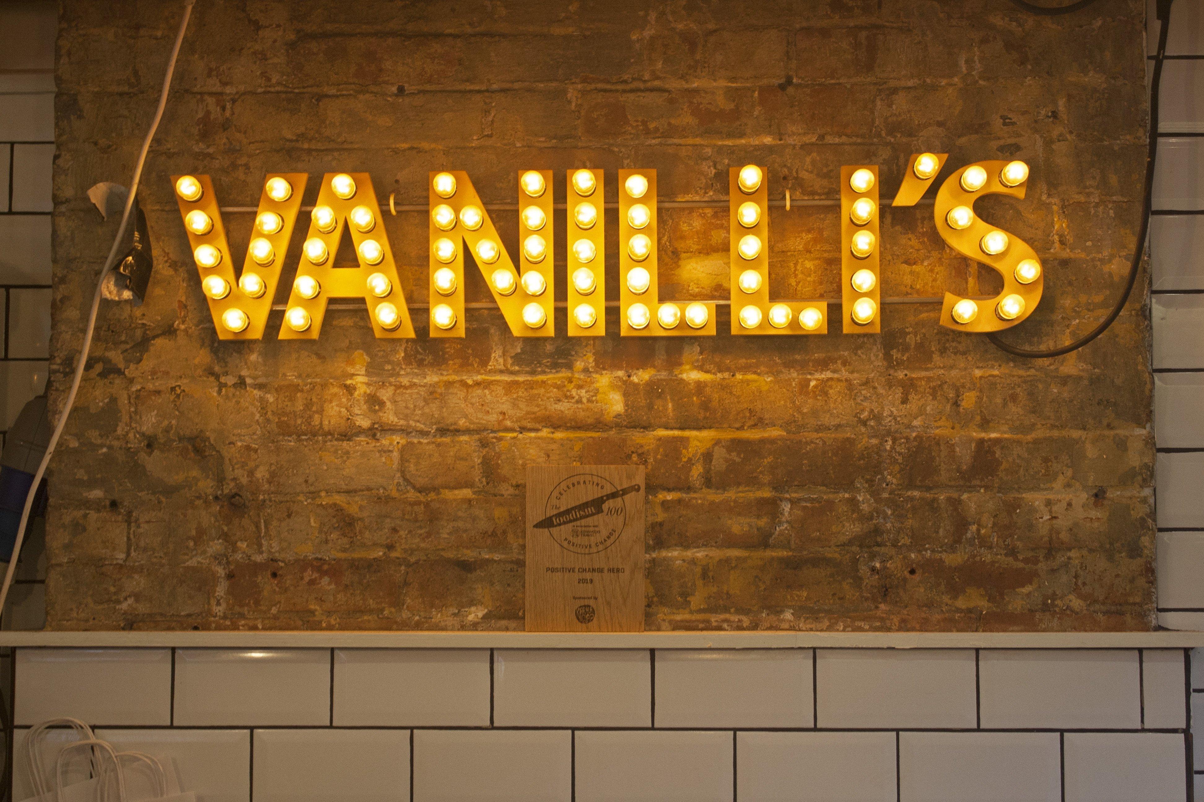 Lily Vanilli Bakery Vanilli's sign