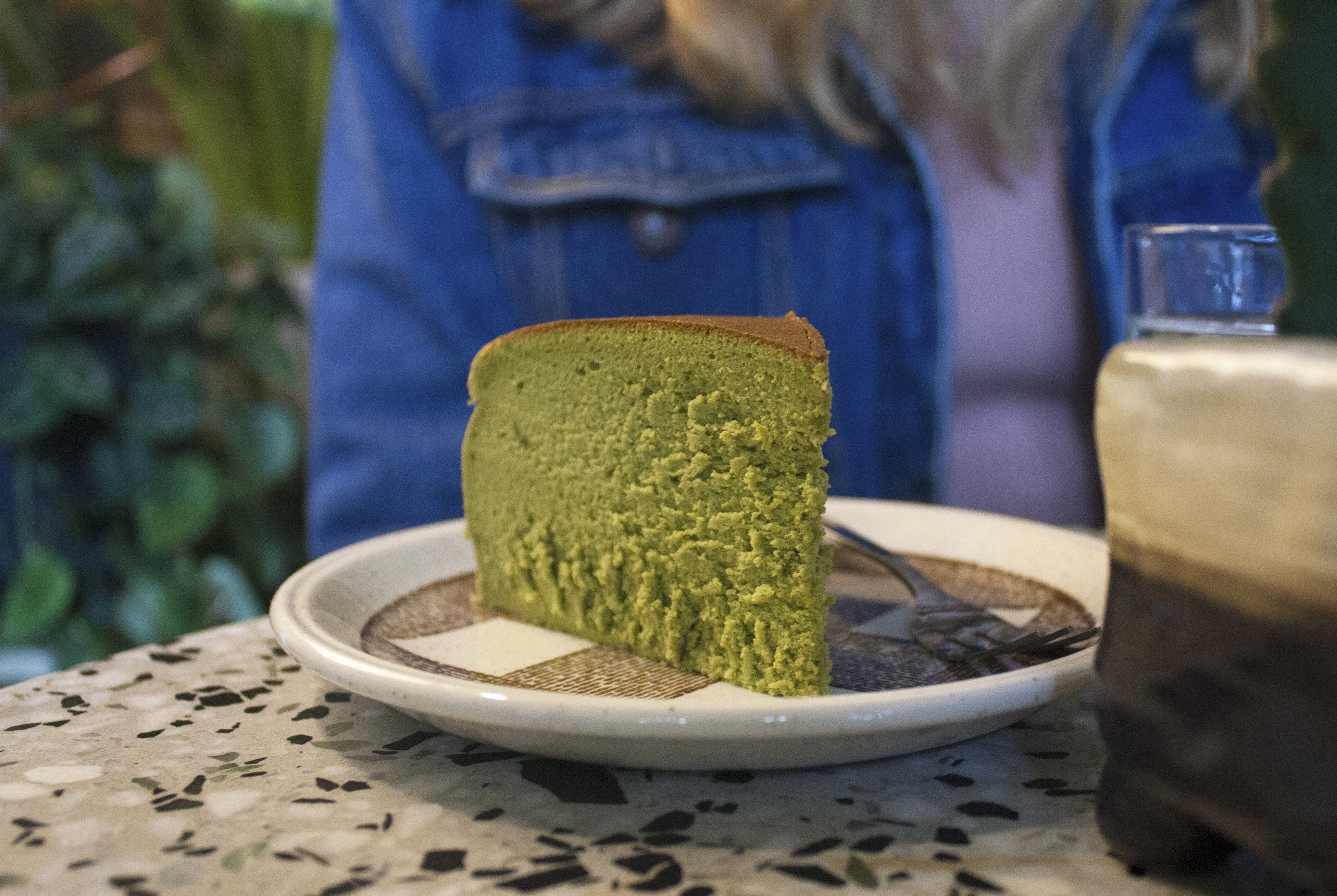 matcha cheesecake at Conservatory Archives, Hackney