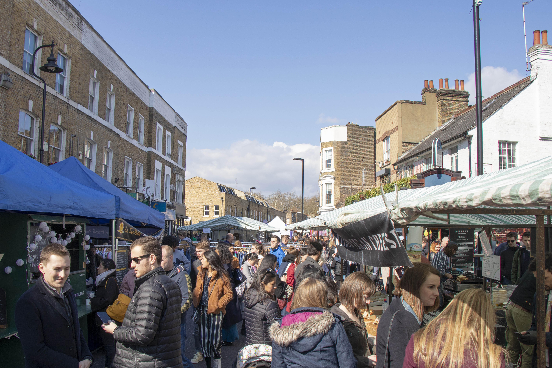 Broadway Market, Hackney stalls