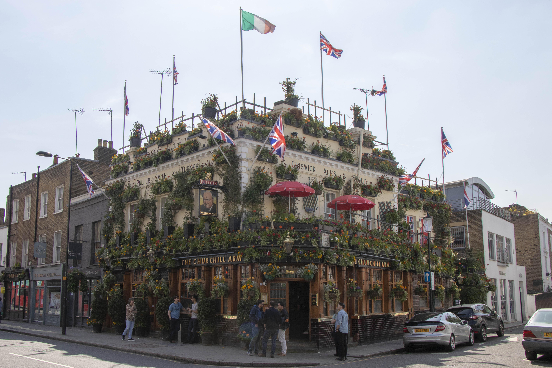 The Churchill Arms, Kensington London outside