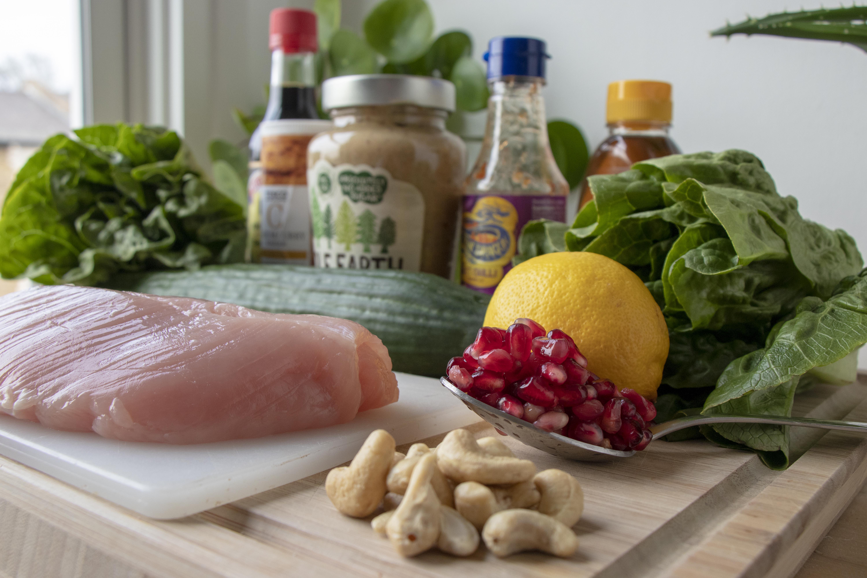 Satay turkey salad ingredients