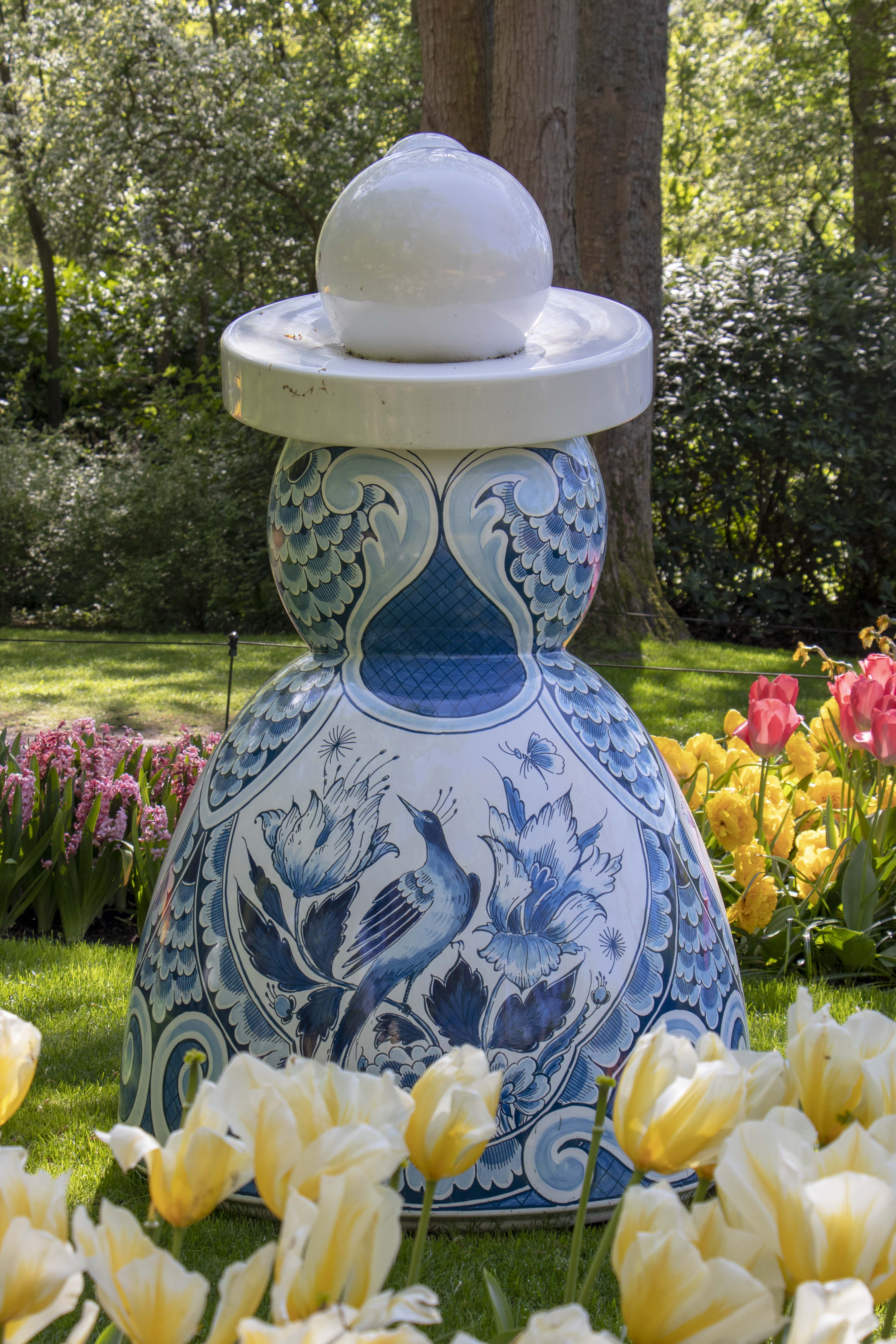 Royal Delft - Proud Mary statue at Keukenhof, Lisse, Netherlands