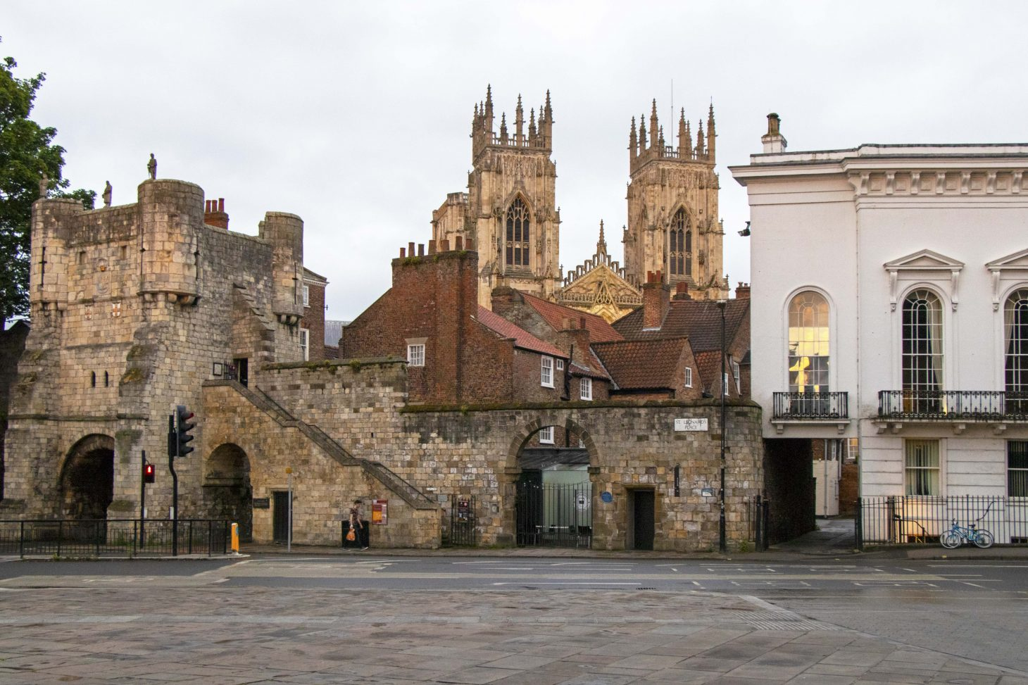 Bootham bar with York Minster behind