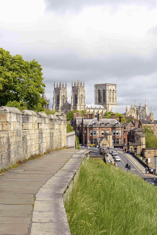 York city walls and York Minster