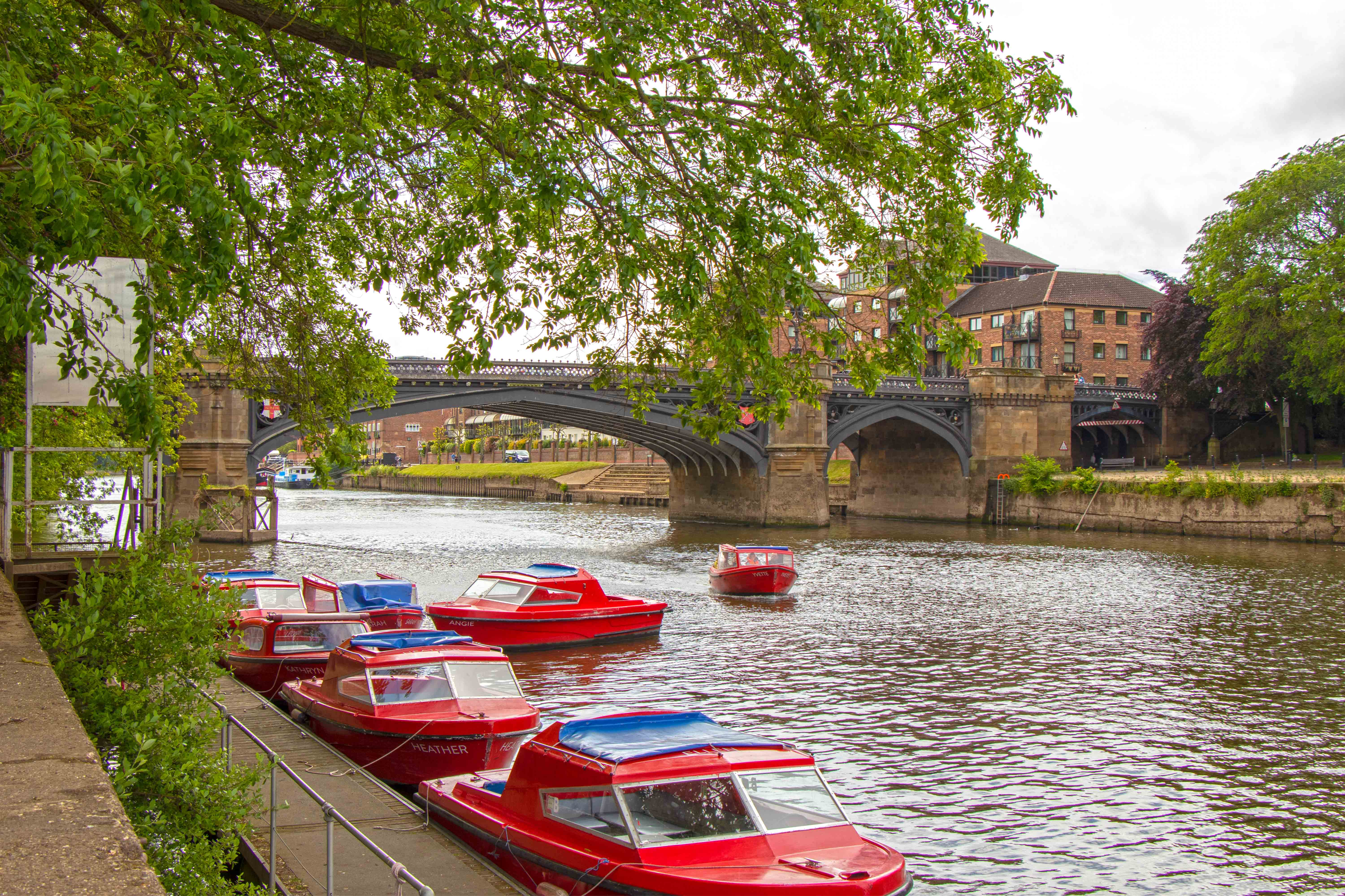 Little red boats on the river ouse, York