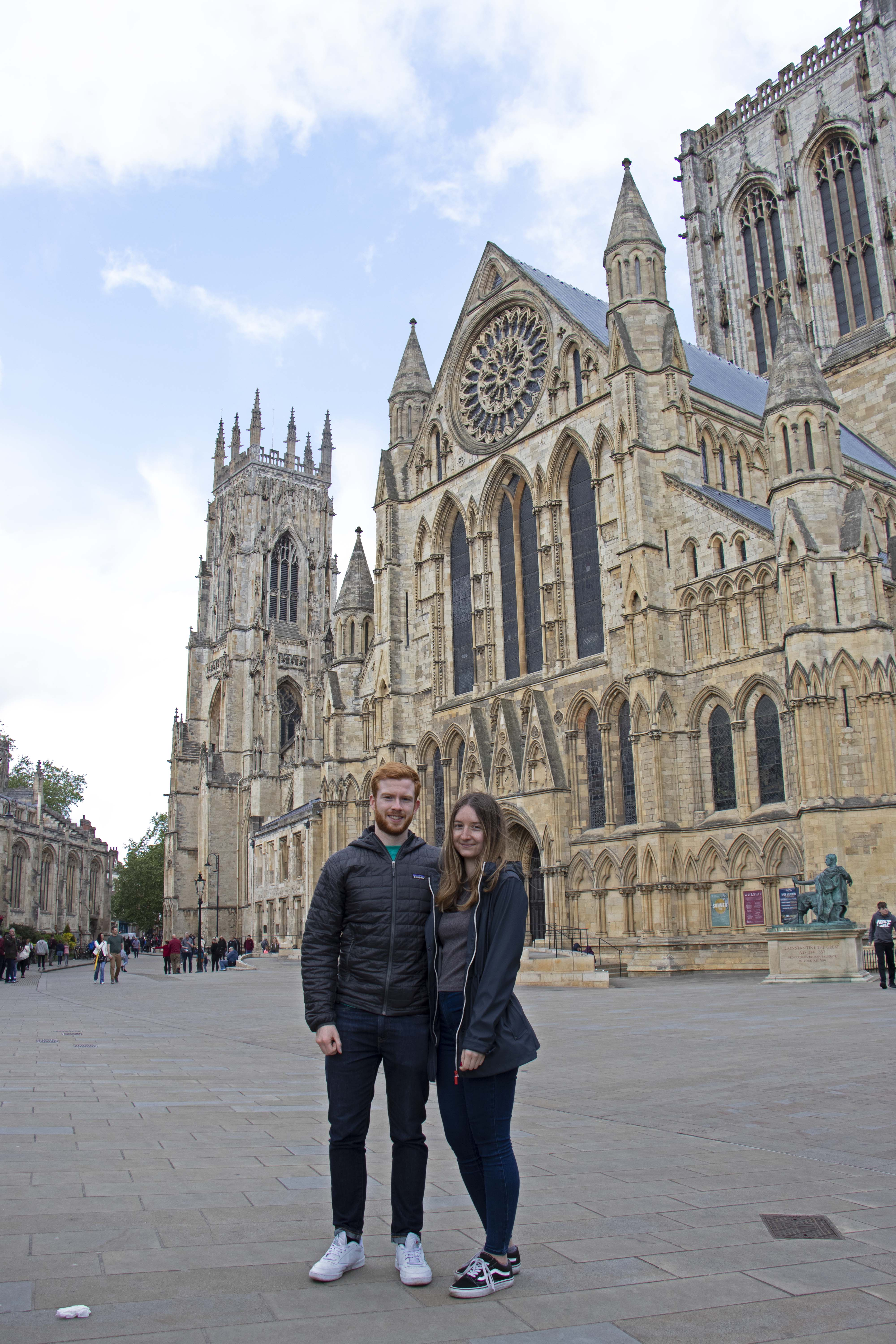 Outside York Minster, York