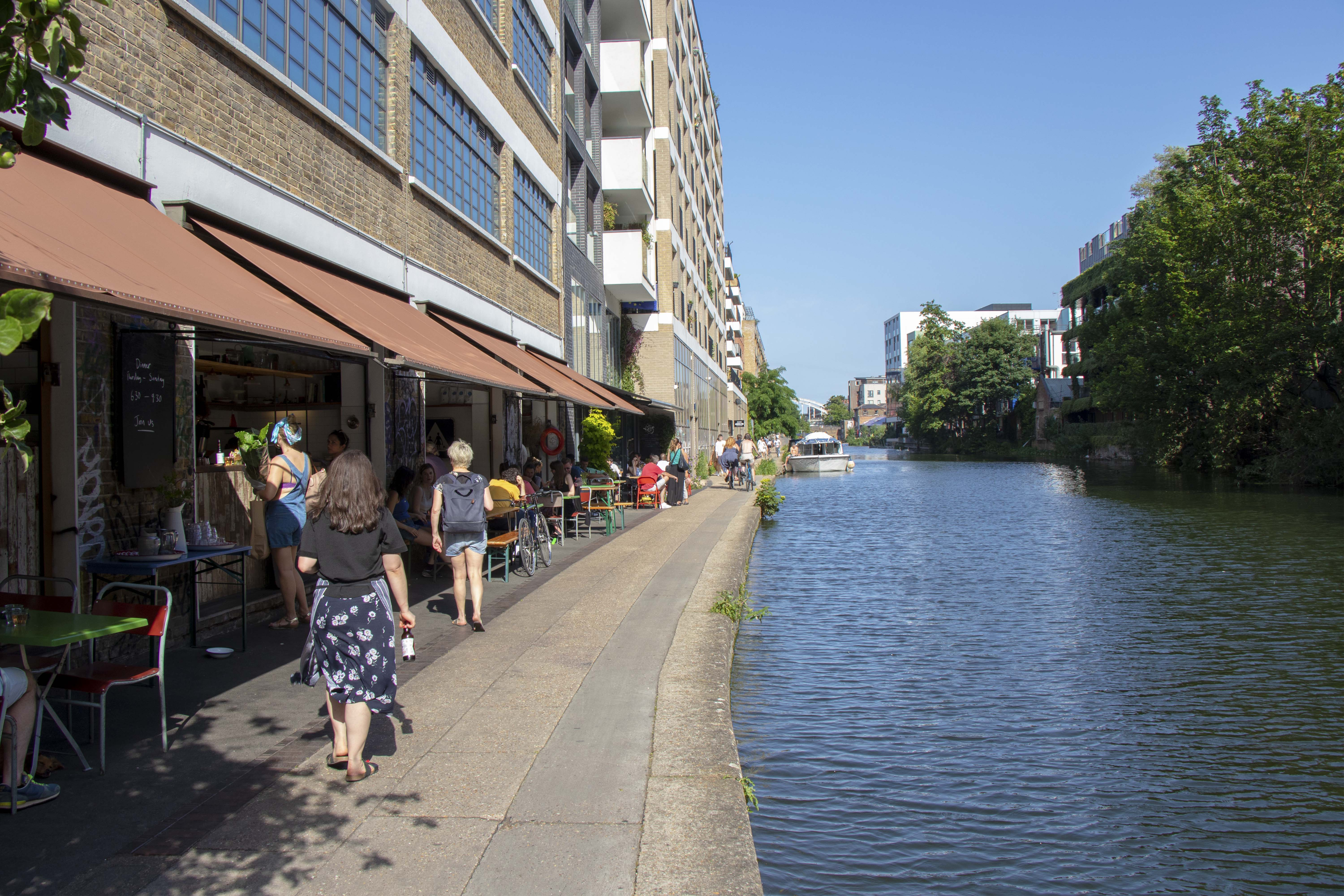 The Barge House and Towpath Cafe, Dalston by Regent's Canal