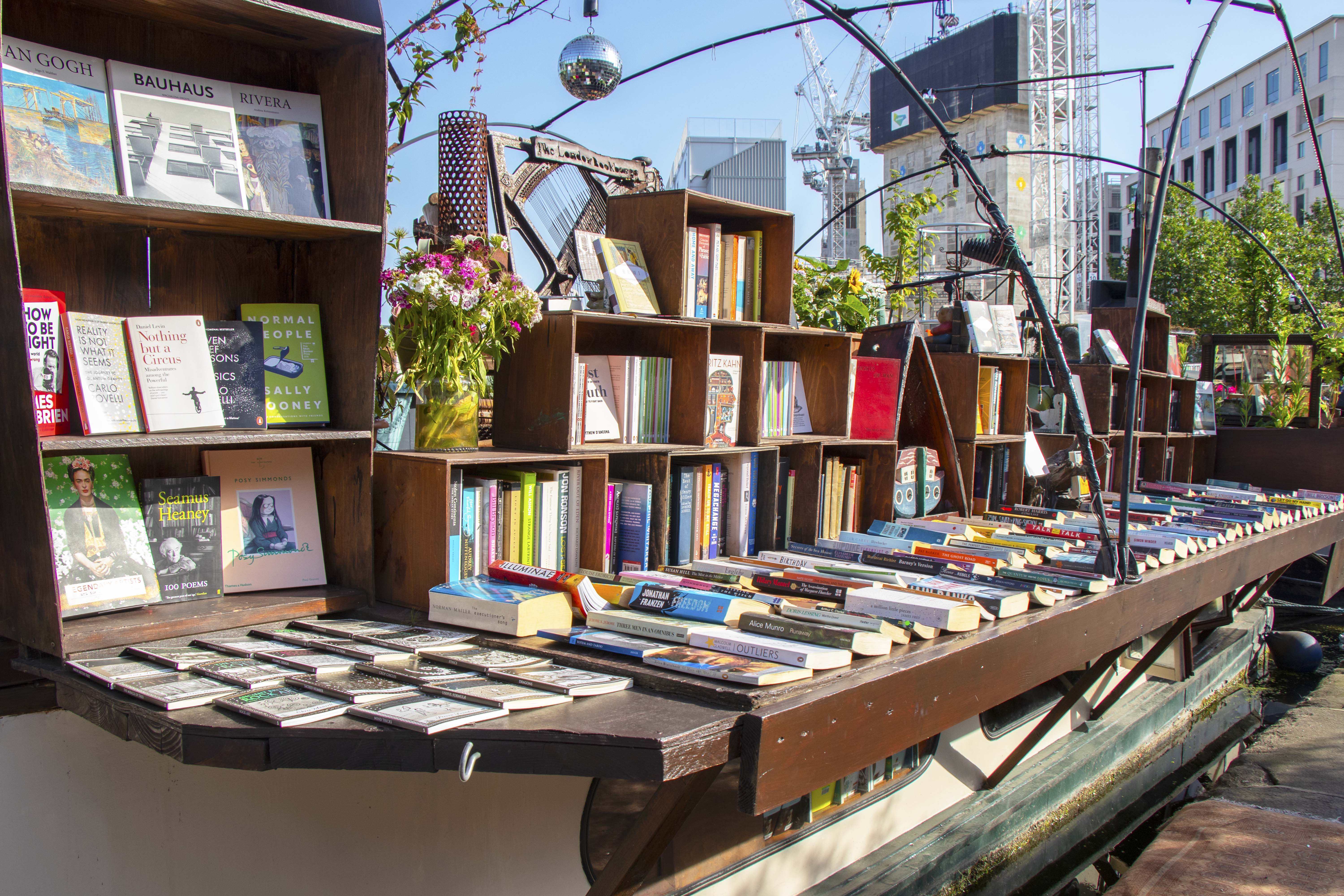 Word on the water, London - boat bookshop