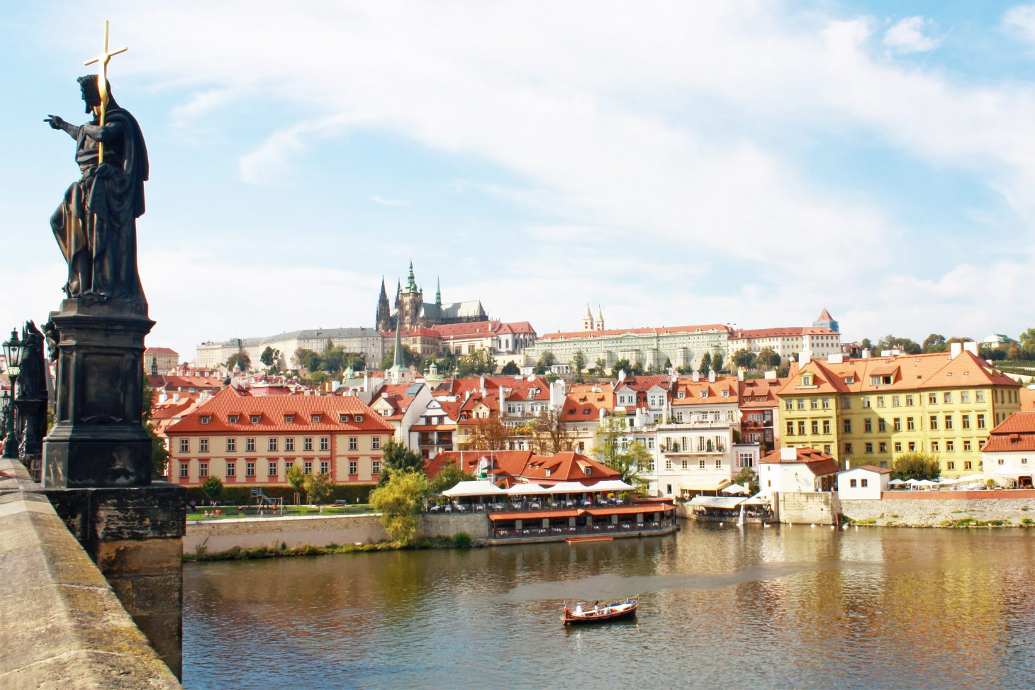 Prague Castle from Charles Bridge, Prague